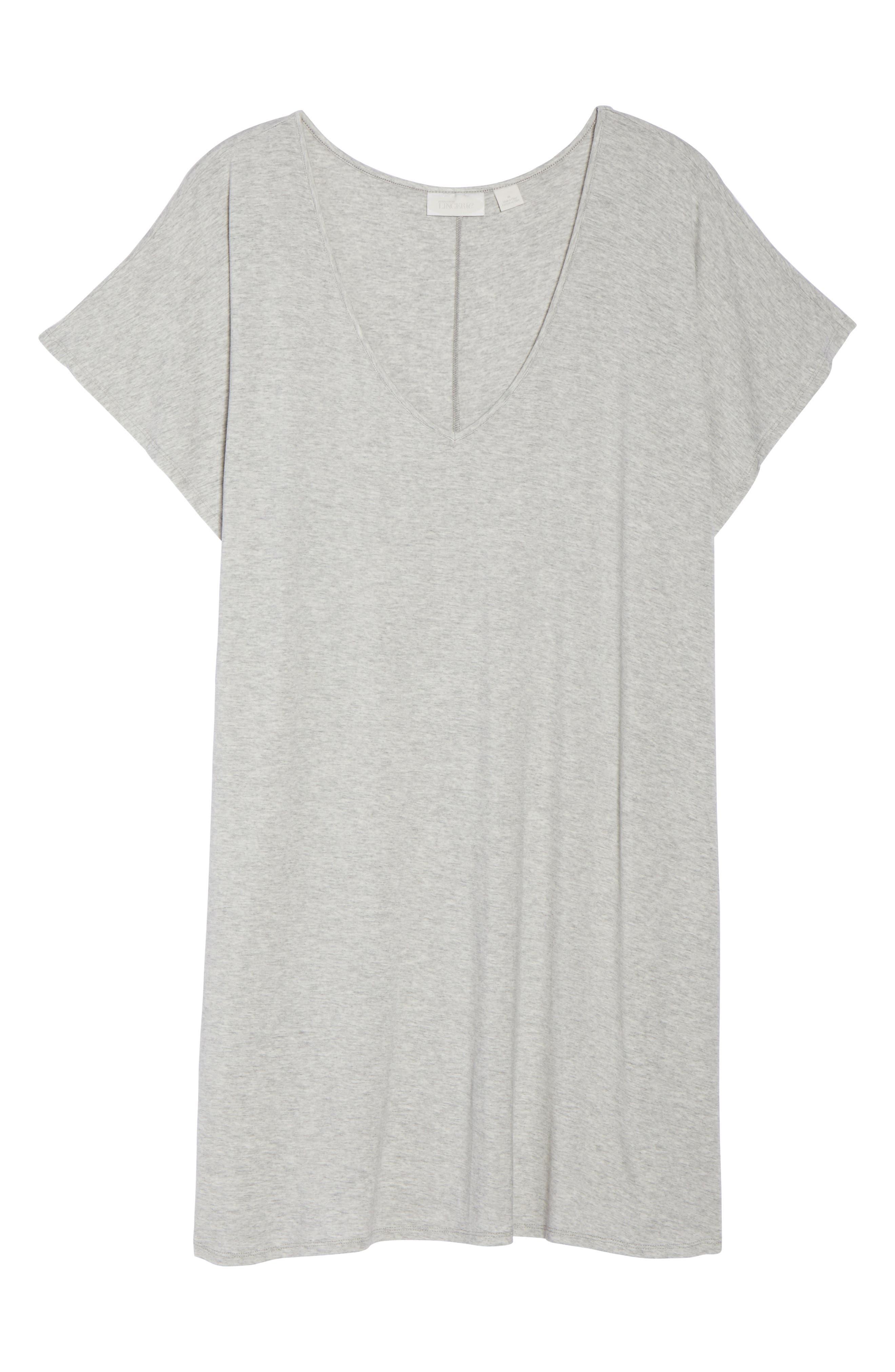 Dolman Sleeve Nightshirt,                             Alternate thumbnail 6, color,                             Grey Pearl Heather