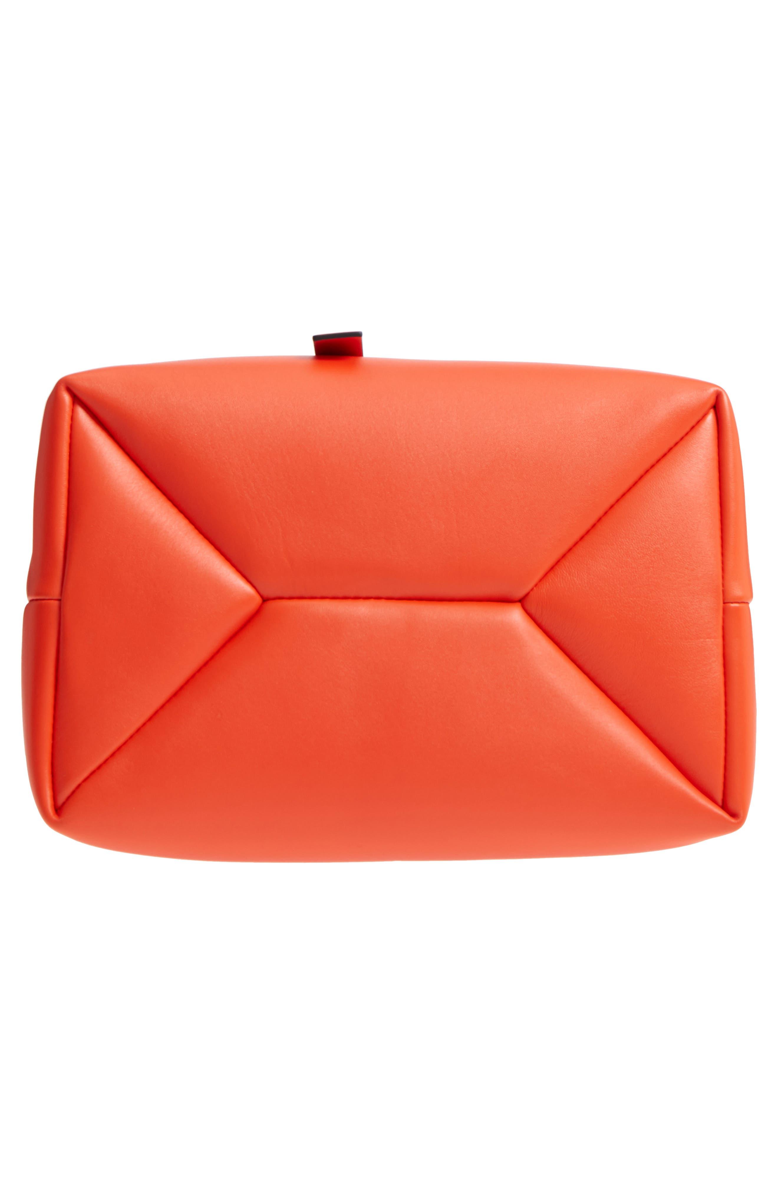 Frame Leather Shoulder Bag,                             Alternate thumbnail 6, color,                             Orange