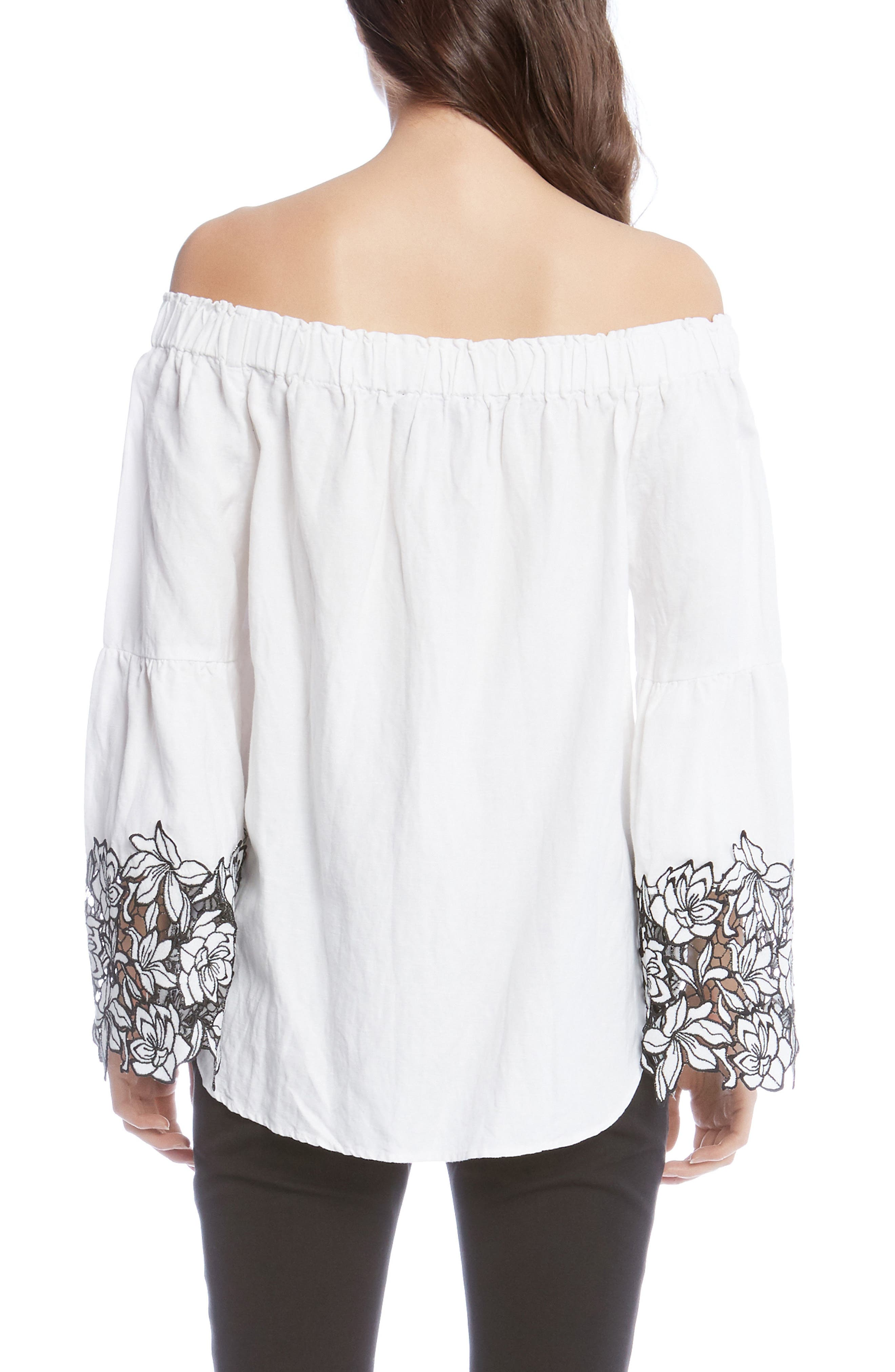 Off the Shoulder Top,                             Alternate thumbnail 3, color,                             Off White