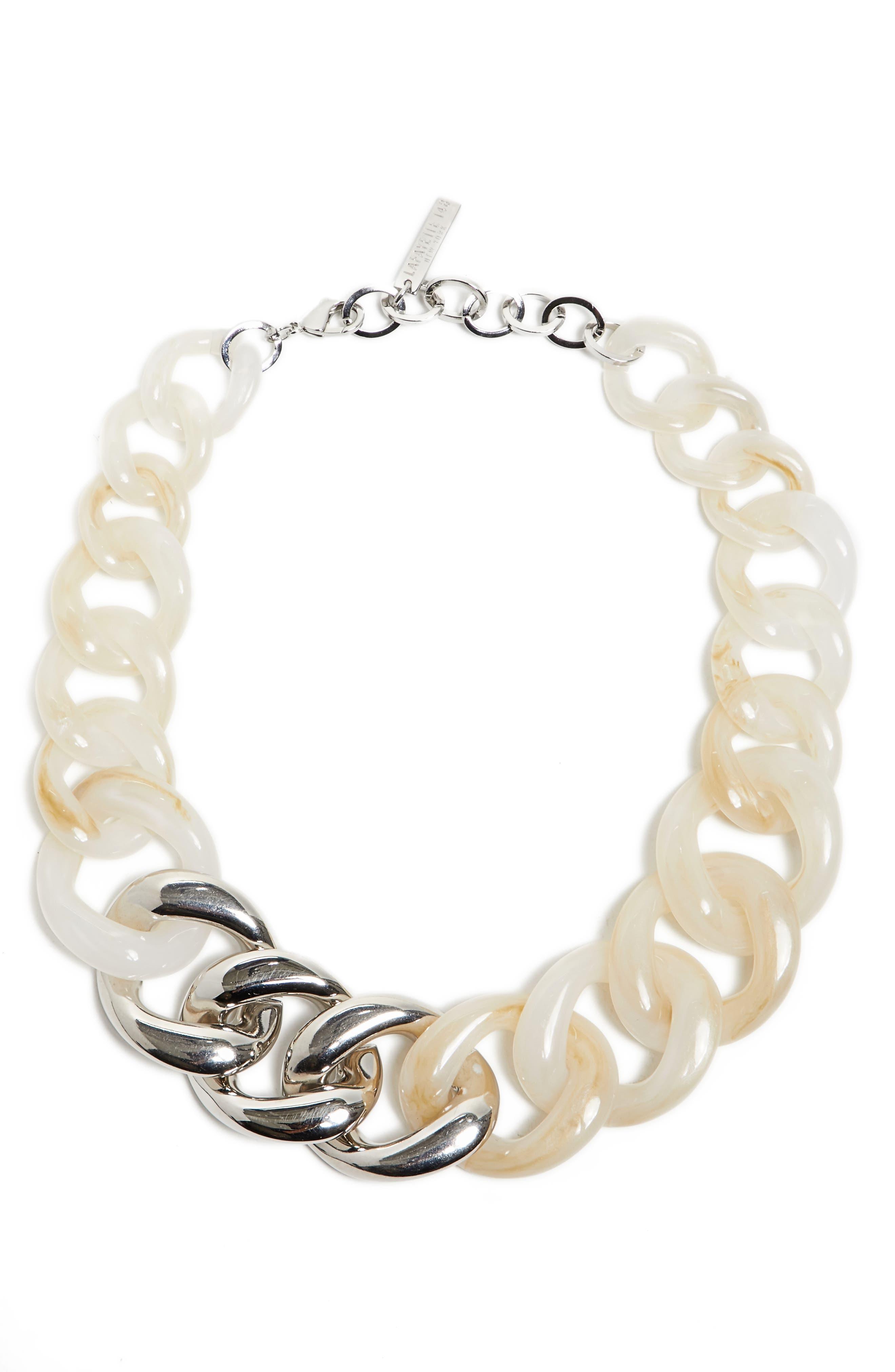 Chain Link Statement Necklace,                         Main,                         color, Cloud Multi