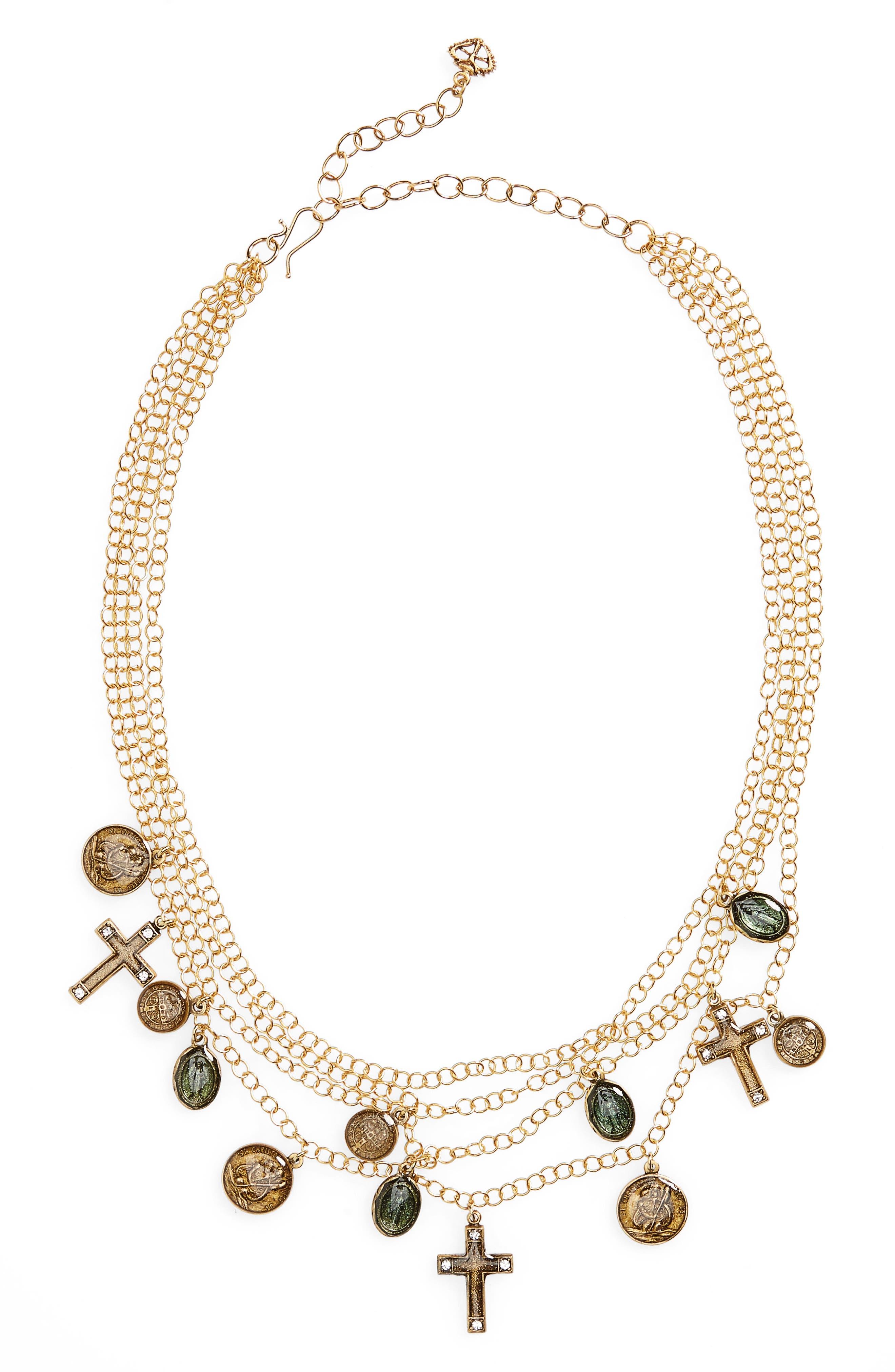 Les Celestes Stellar Necklace,                             Main thumbnail 1, color,                             Gold
