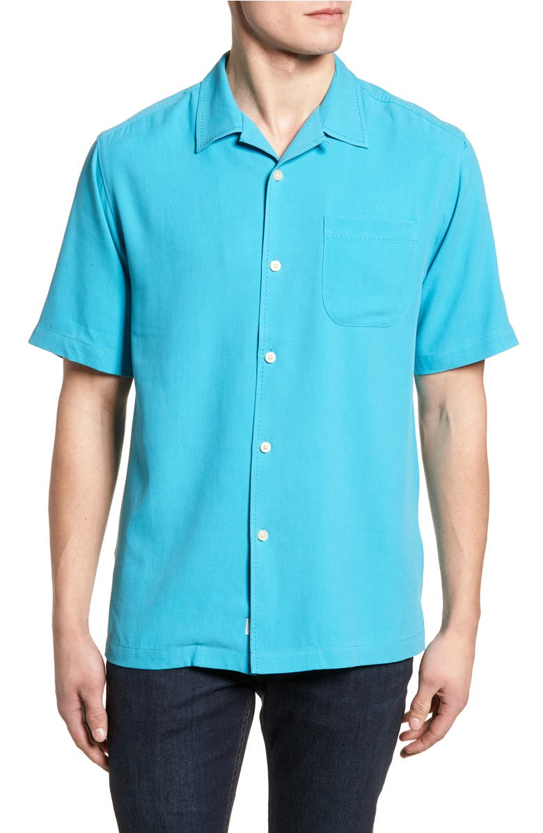 Tommy bahama catalina twill short sleeve silk camp shirt for Tommy bahama short sleeve silk camp shirt