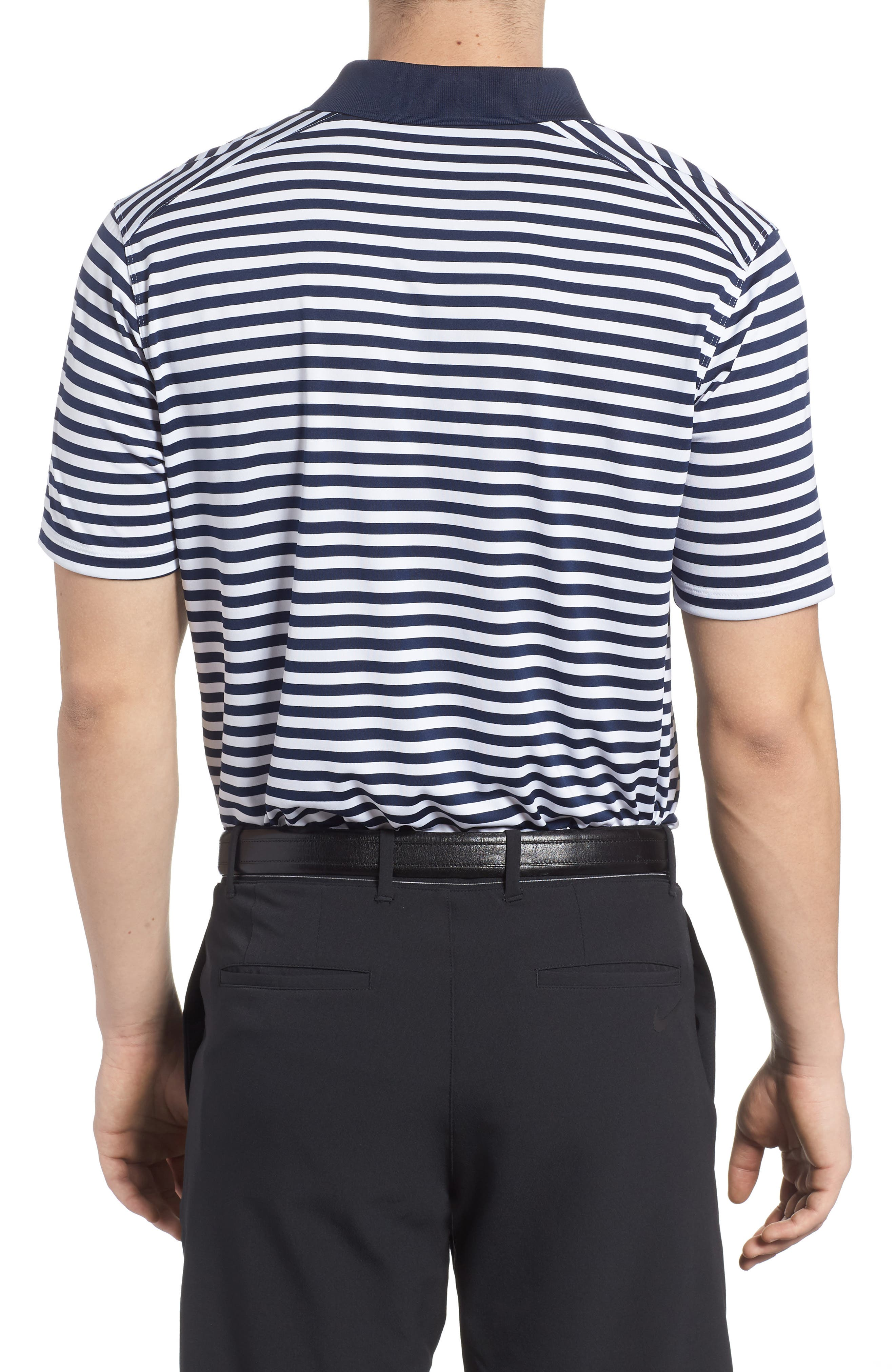 Dry Victory Stripe Golf Polo,                             Alternate thumbnail 2, color,                             College Navy/ White/ Black