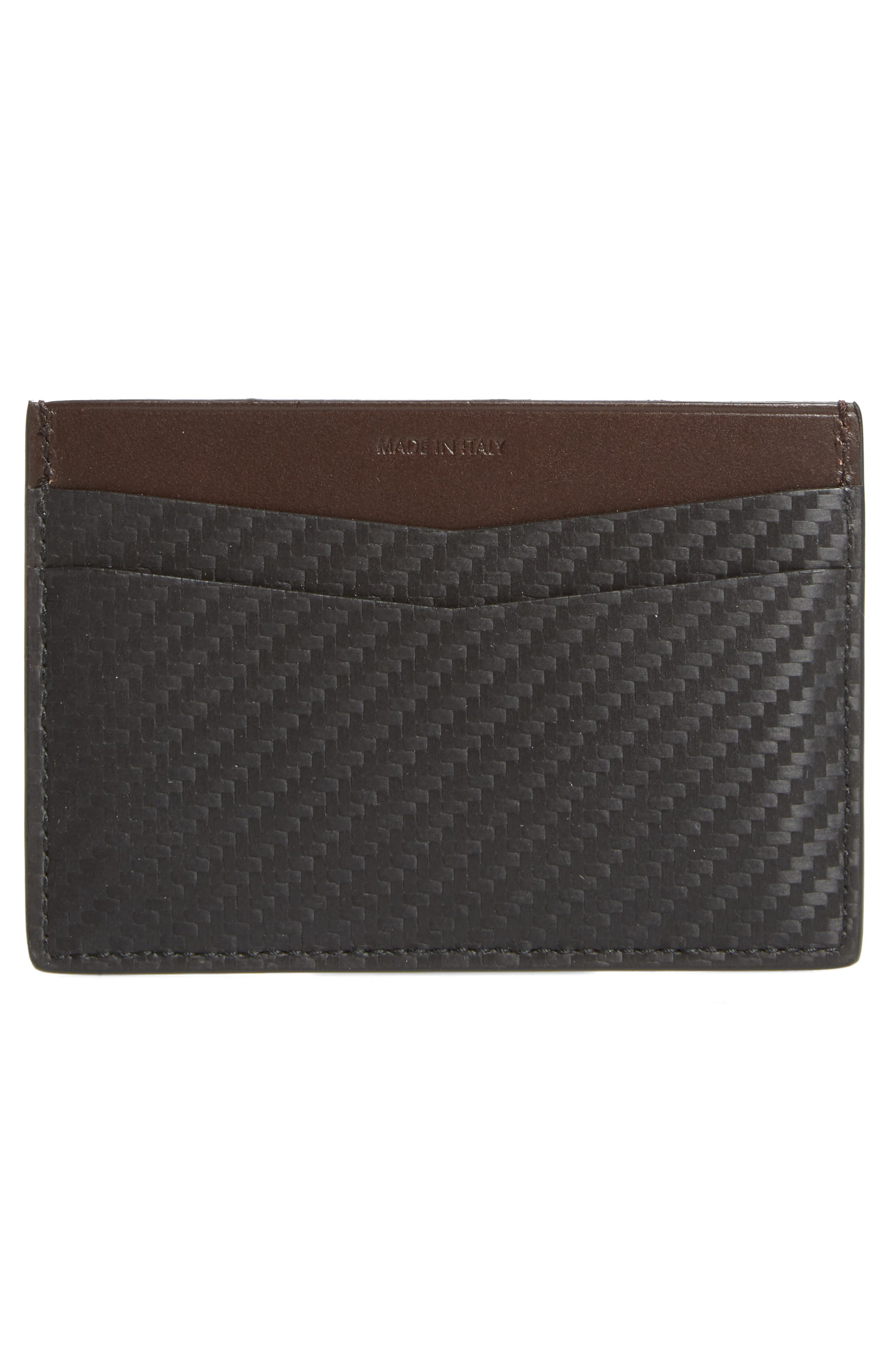Chassis Leather Card Case,                             Alternate thumbnail 2, color,                             Black