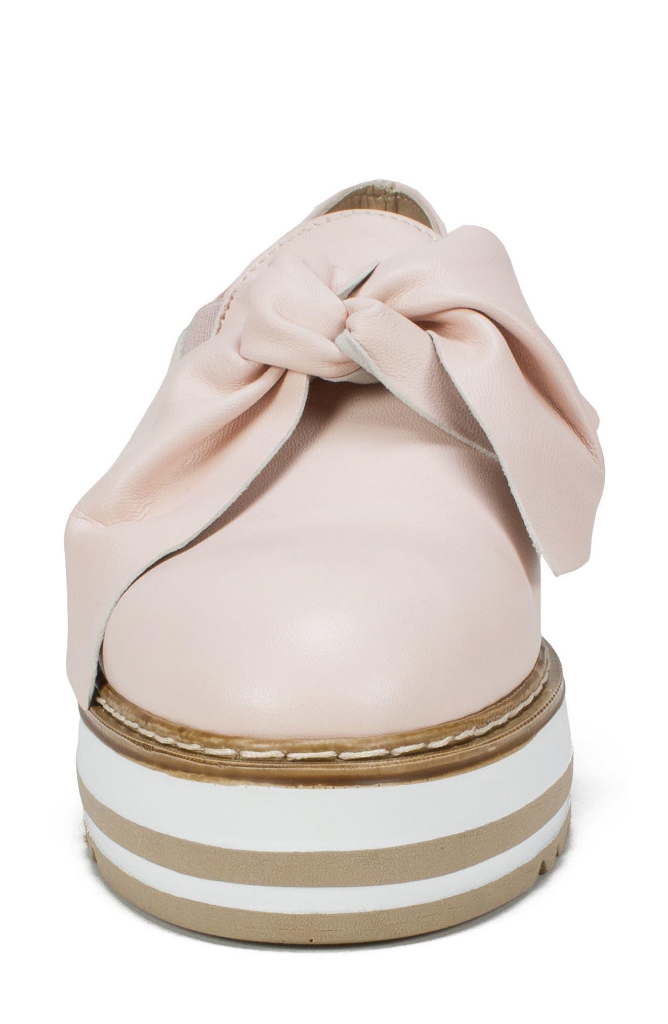 Bella Platform Loafer,                             Alternate thumbnail 4, color,                             Pink Leather