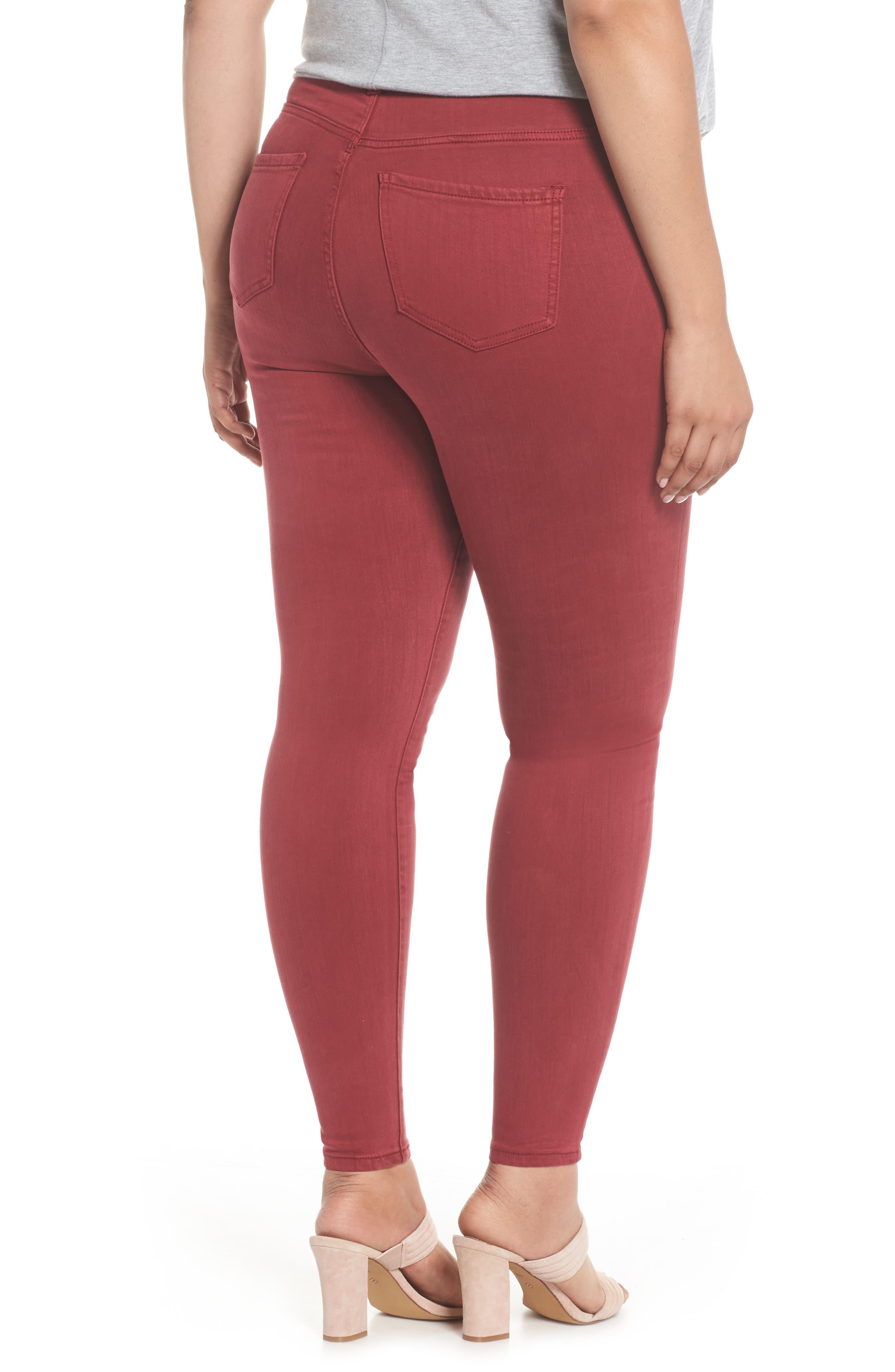 Abby Skinny Jeans,                             Alternate thumbnail 2, color,                             Biking Red