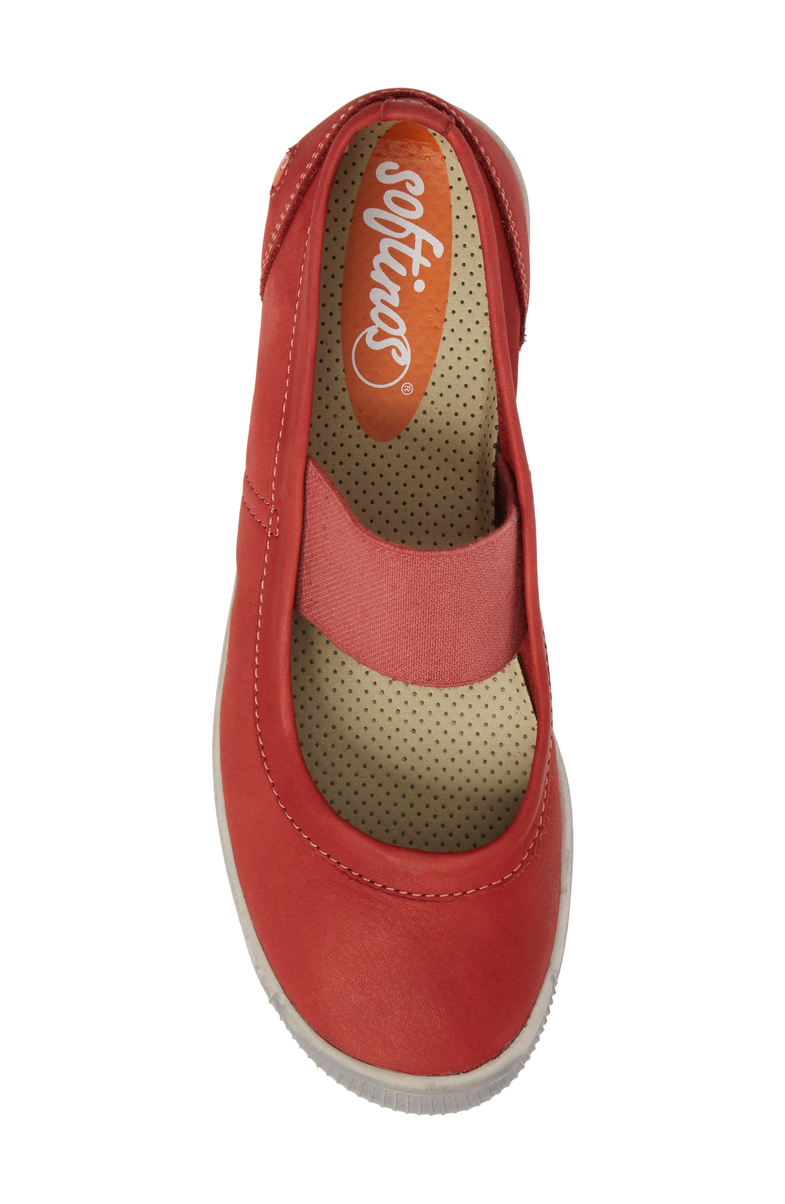 Ion Mary Jane Sneaker,                             Alternate thumbnail 5, color,                             Red Leather