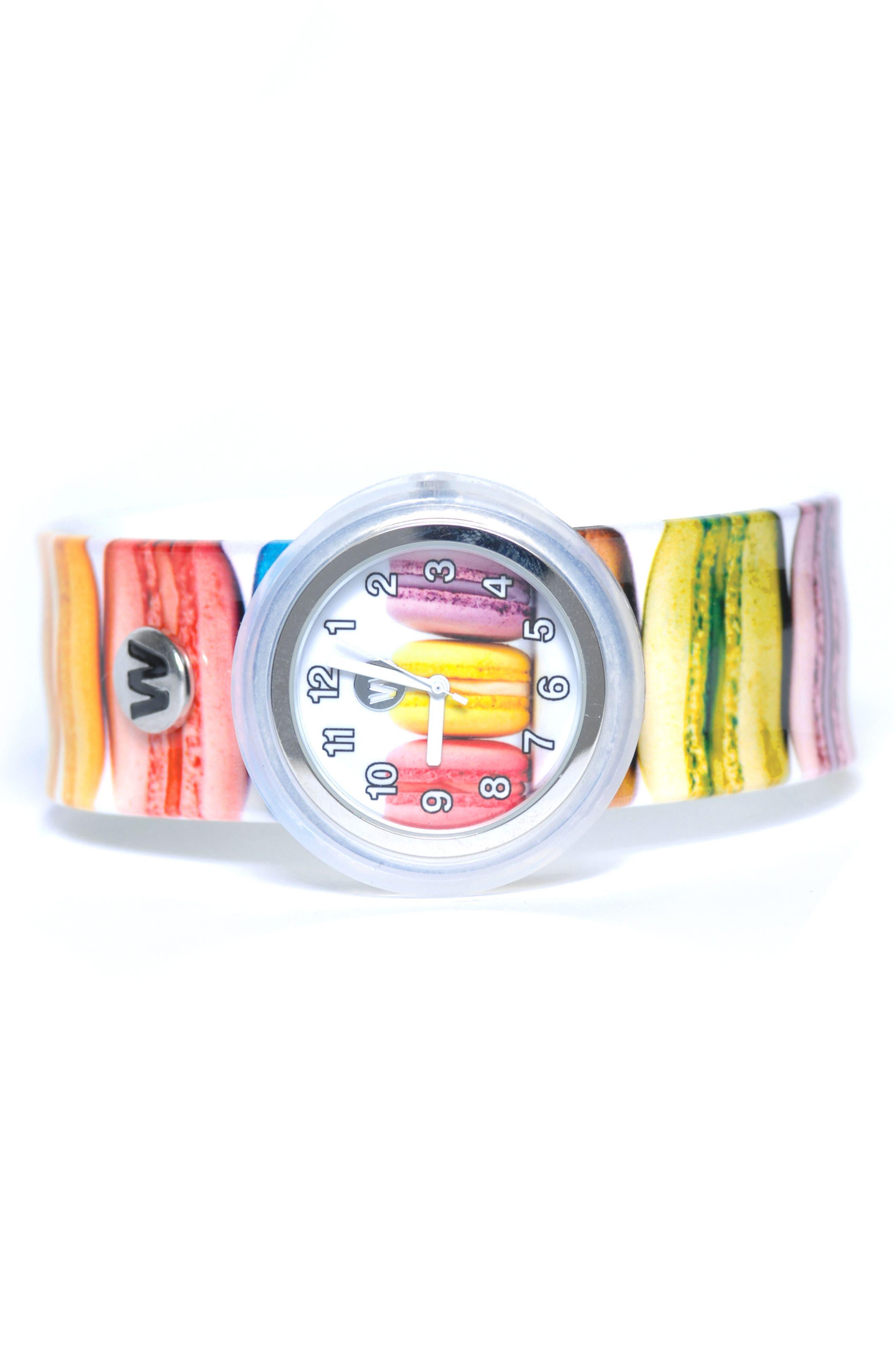 Macarons Slap Watch,                         Main,                         color, Multi