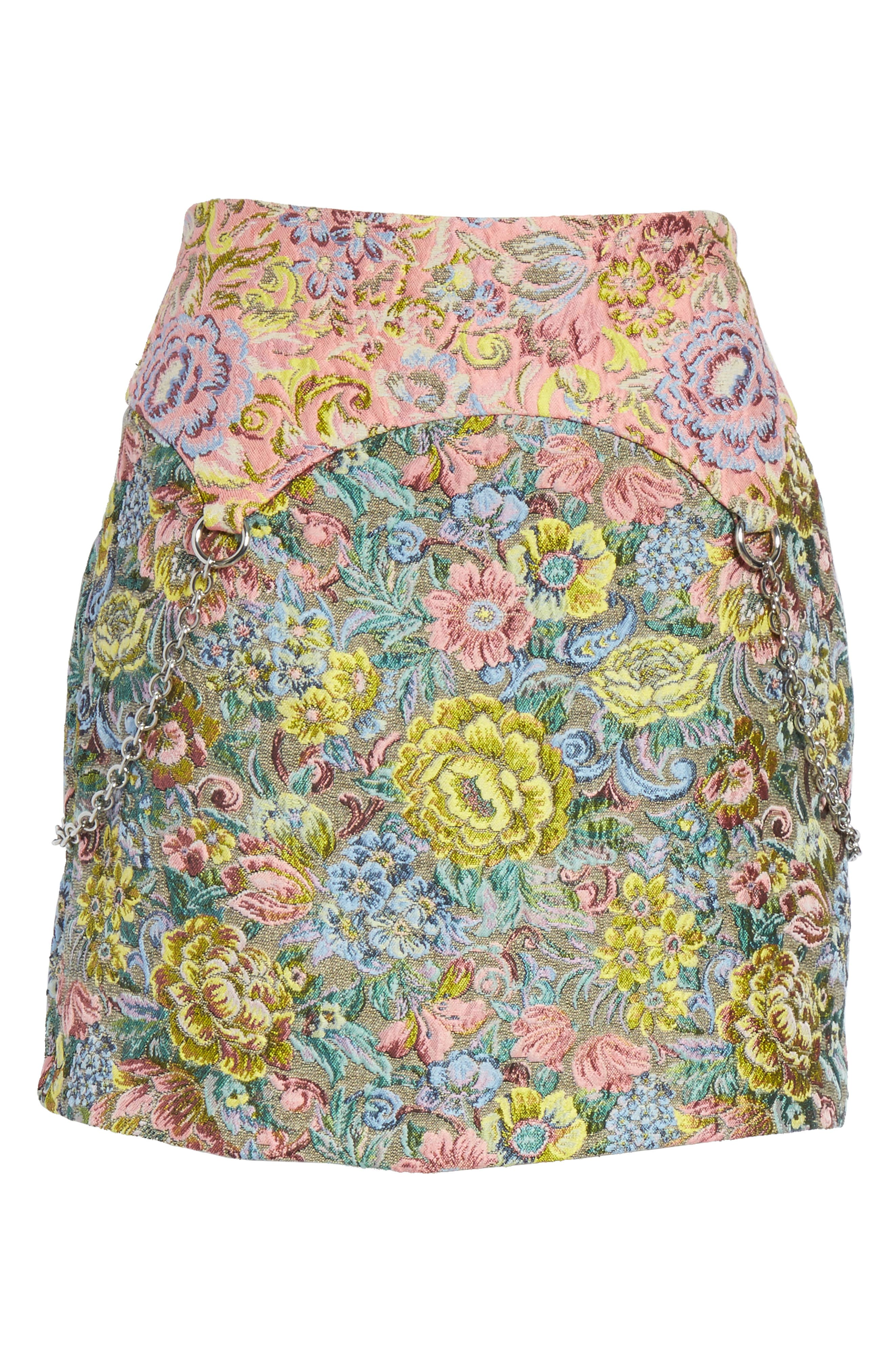 Chatham Brocade Miniskirt,                             Alternate thumbnail 7, color,                             Couch