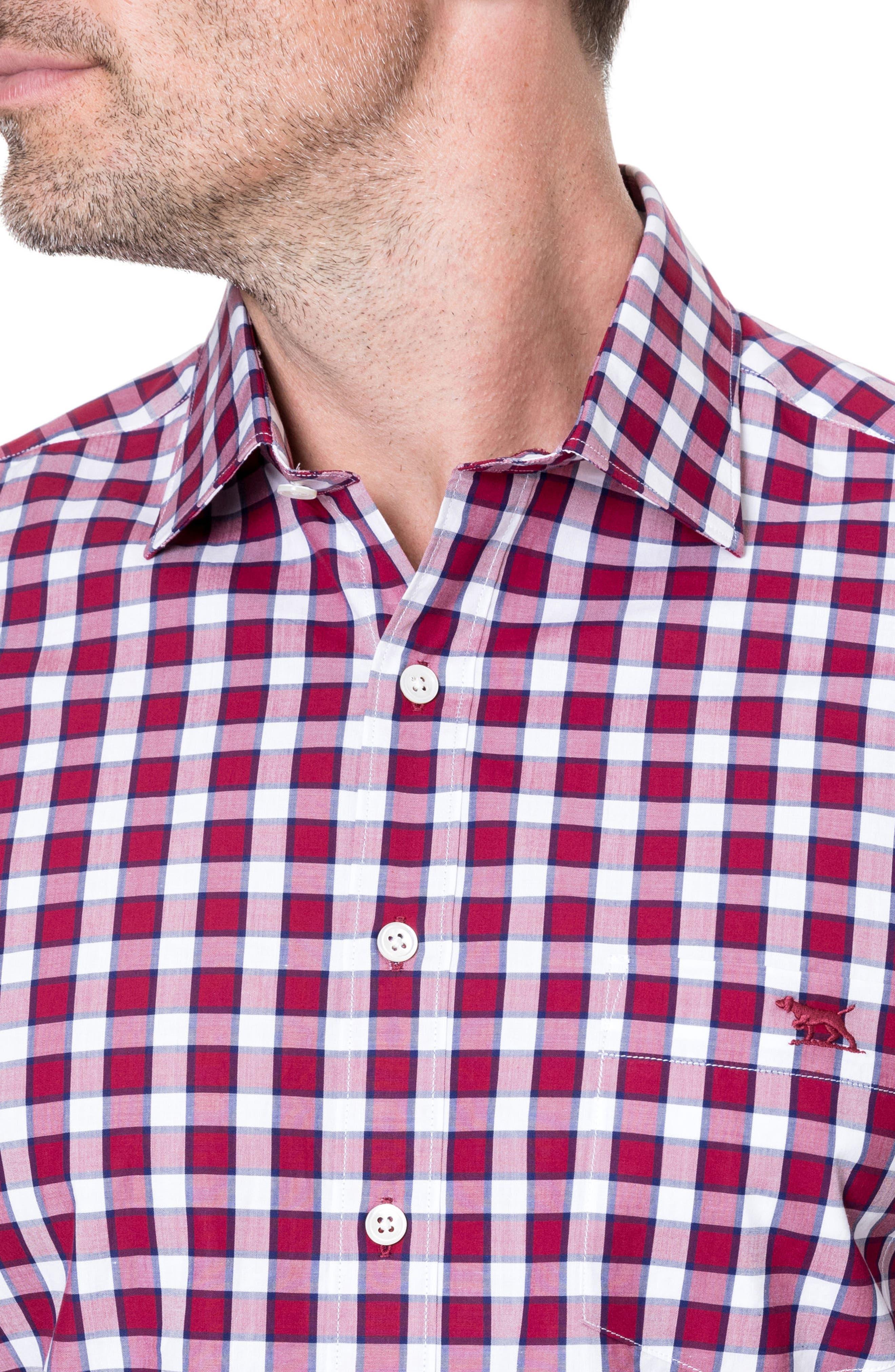 Cedarwood Regular Fit Sport Shirt,                             Alternate thumbnail 2, color,                             Sangria