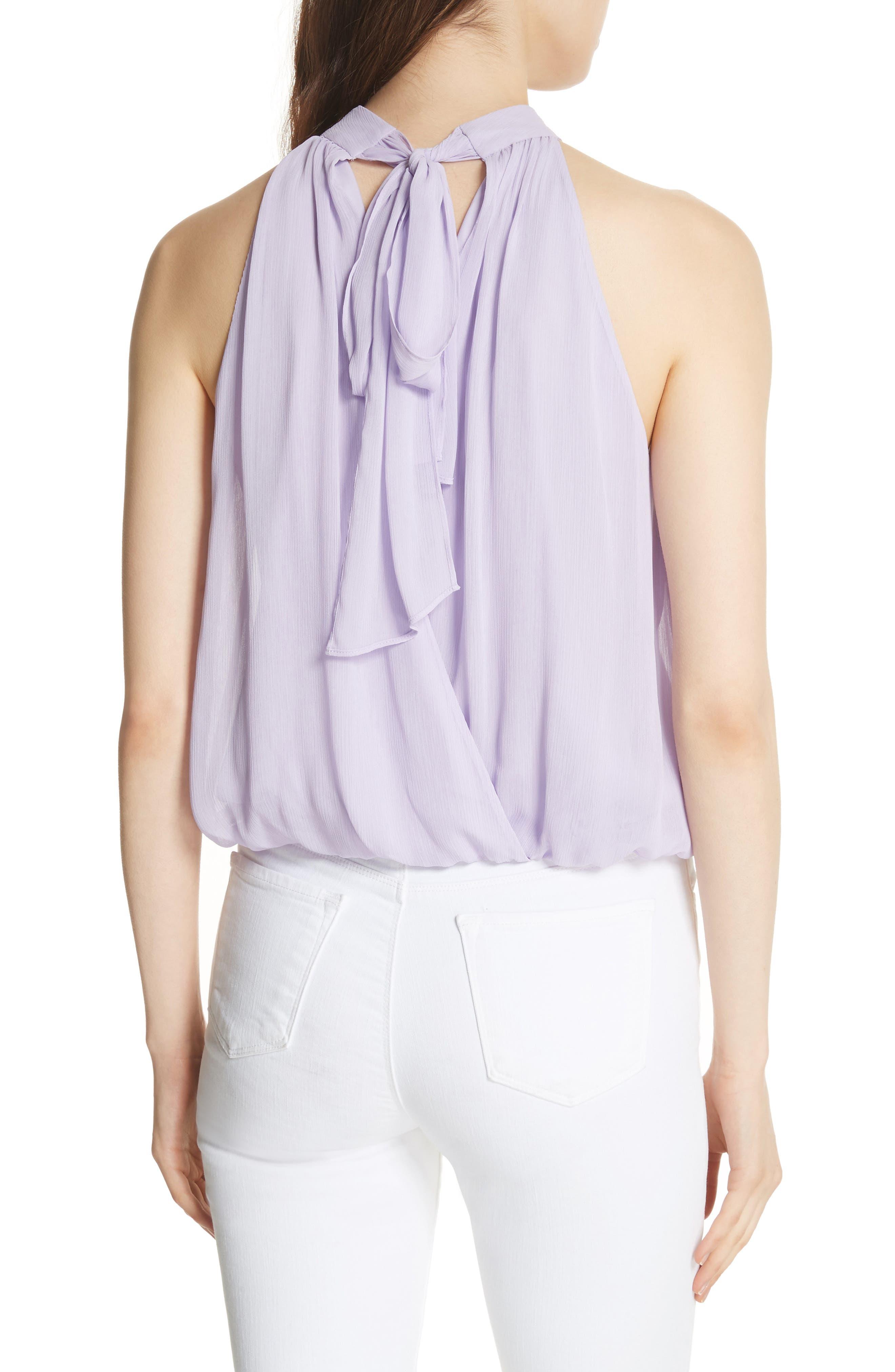 Maris Tie Back Top,                             Alternate thumbnail 2, color,                             Lilac