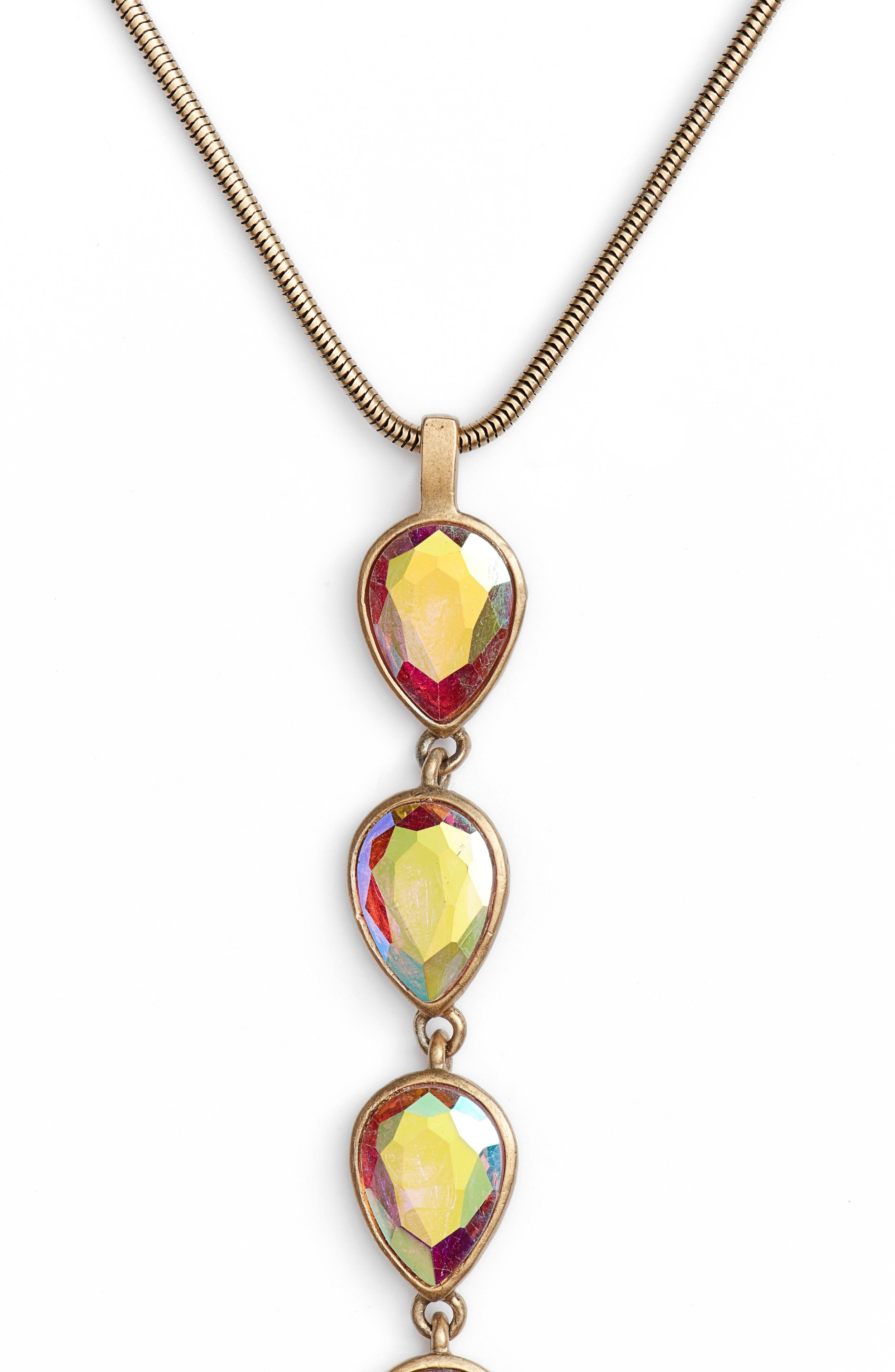 Sydney Y-Necklace,                             Alternate thumbnail 2, color,                             Iridescent