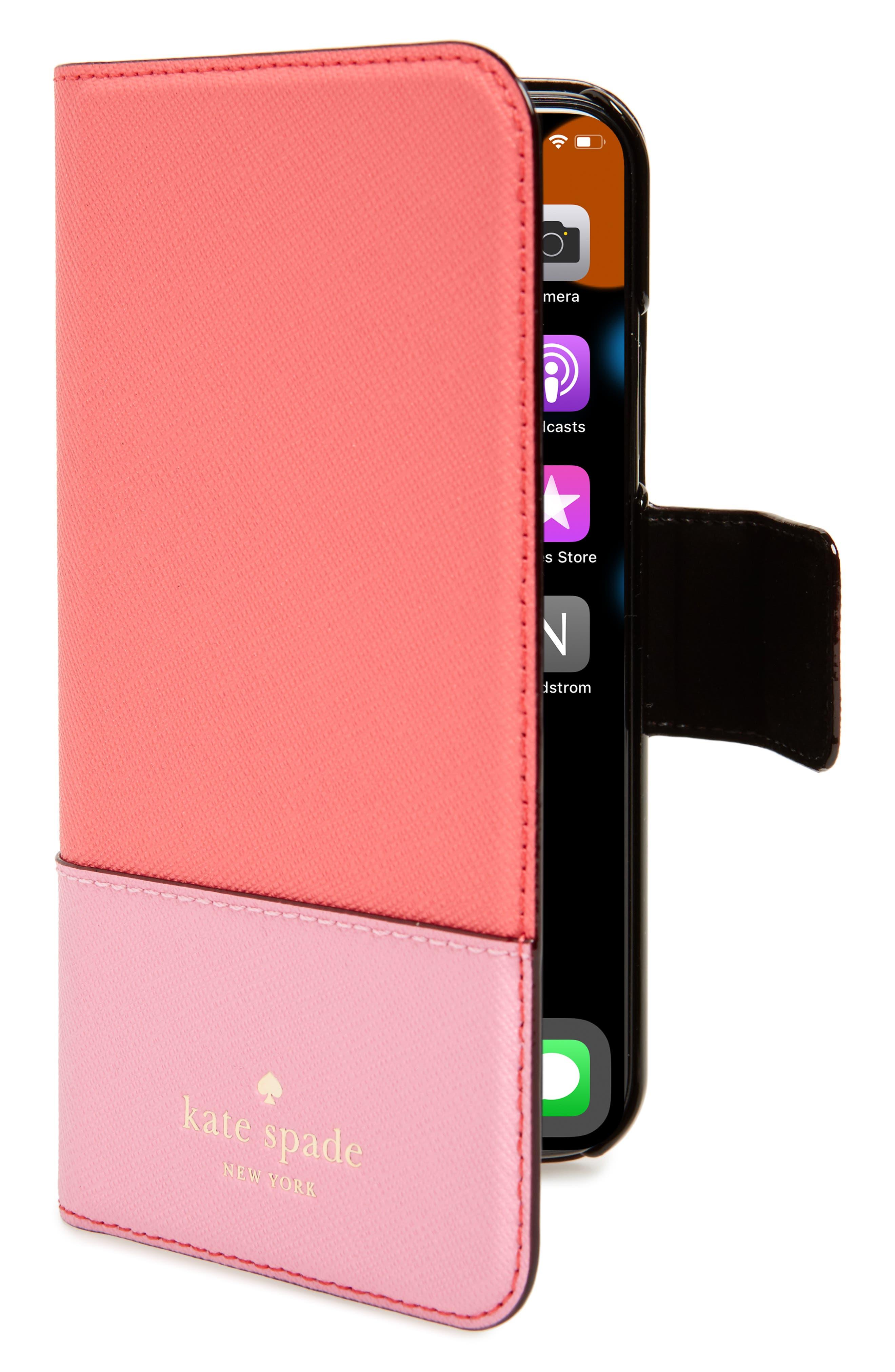 kate spade new york leather wrap iPhone X folio case