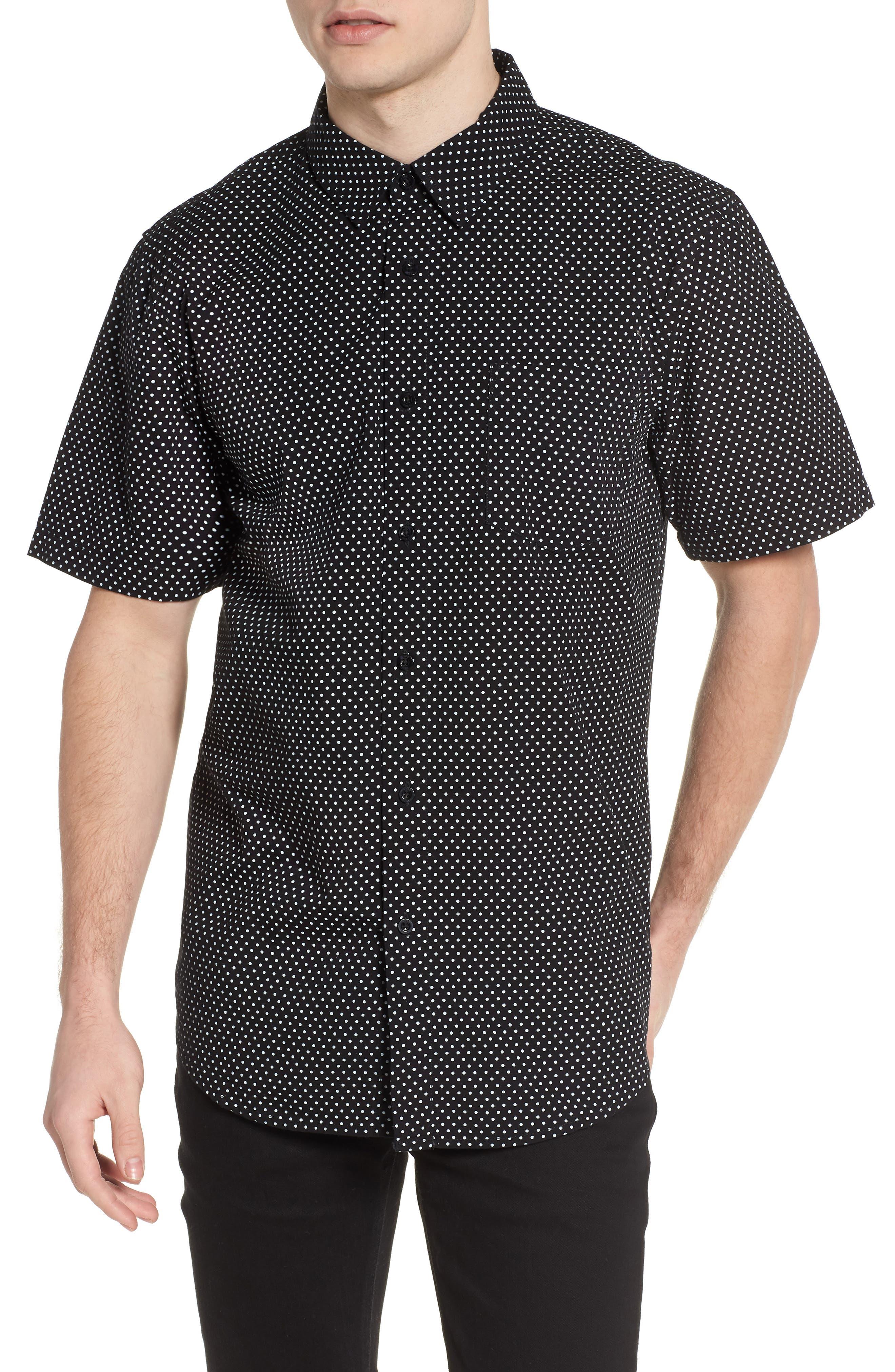 Brozwell Short Sleeve Shirt,                         Main,                         color, Black Multi