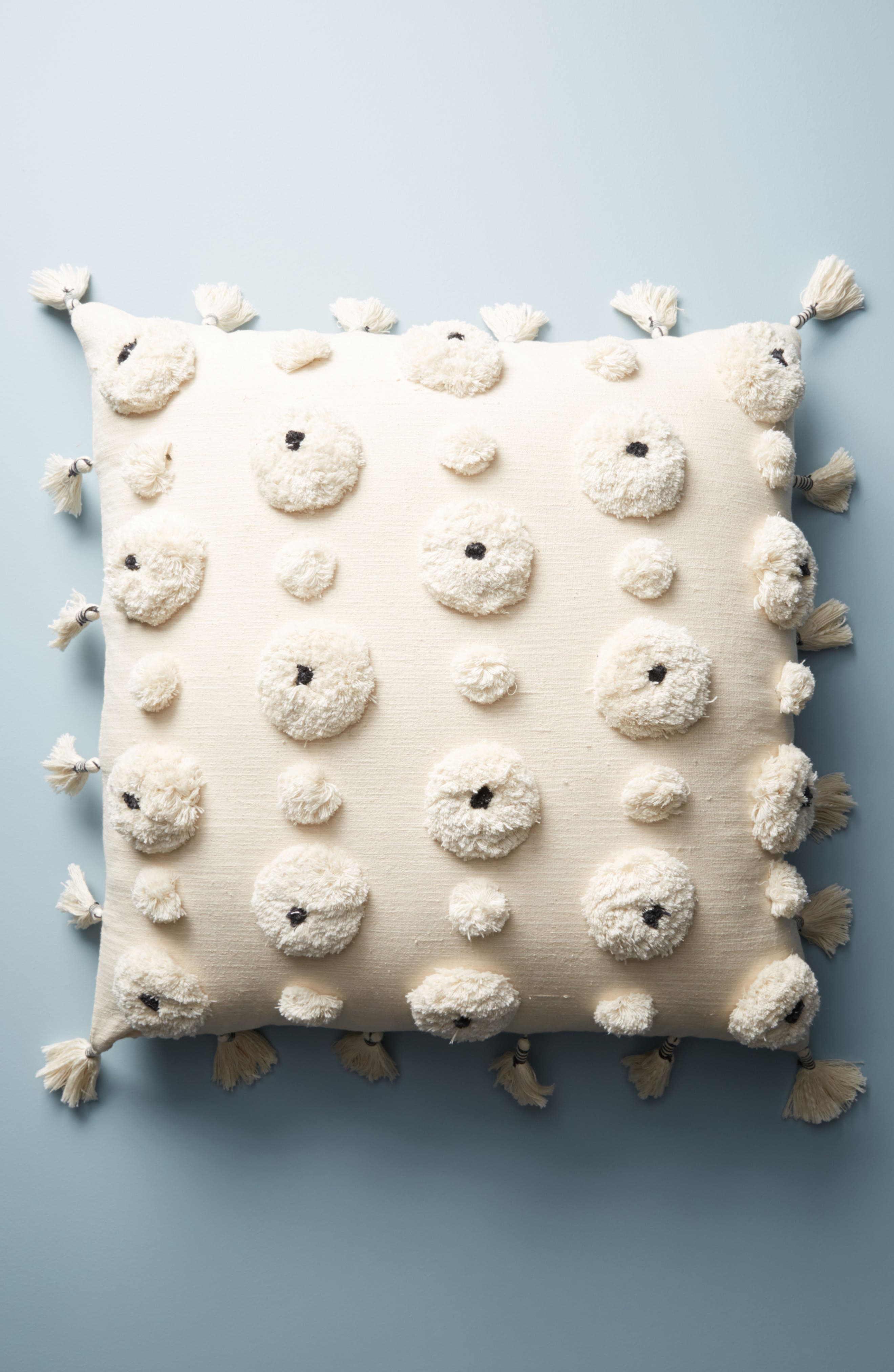 Tufted Amal Accent Pillow,                         Main,                         color, Blue