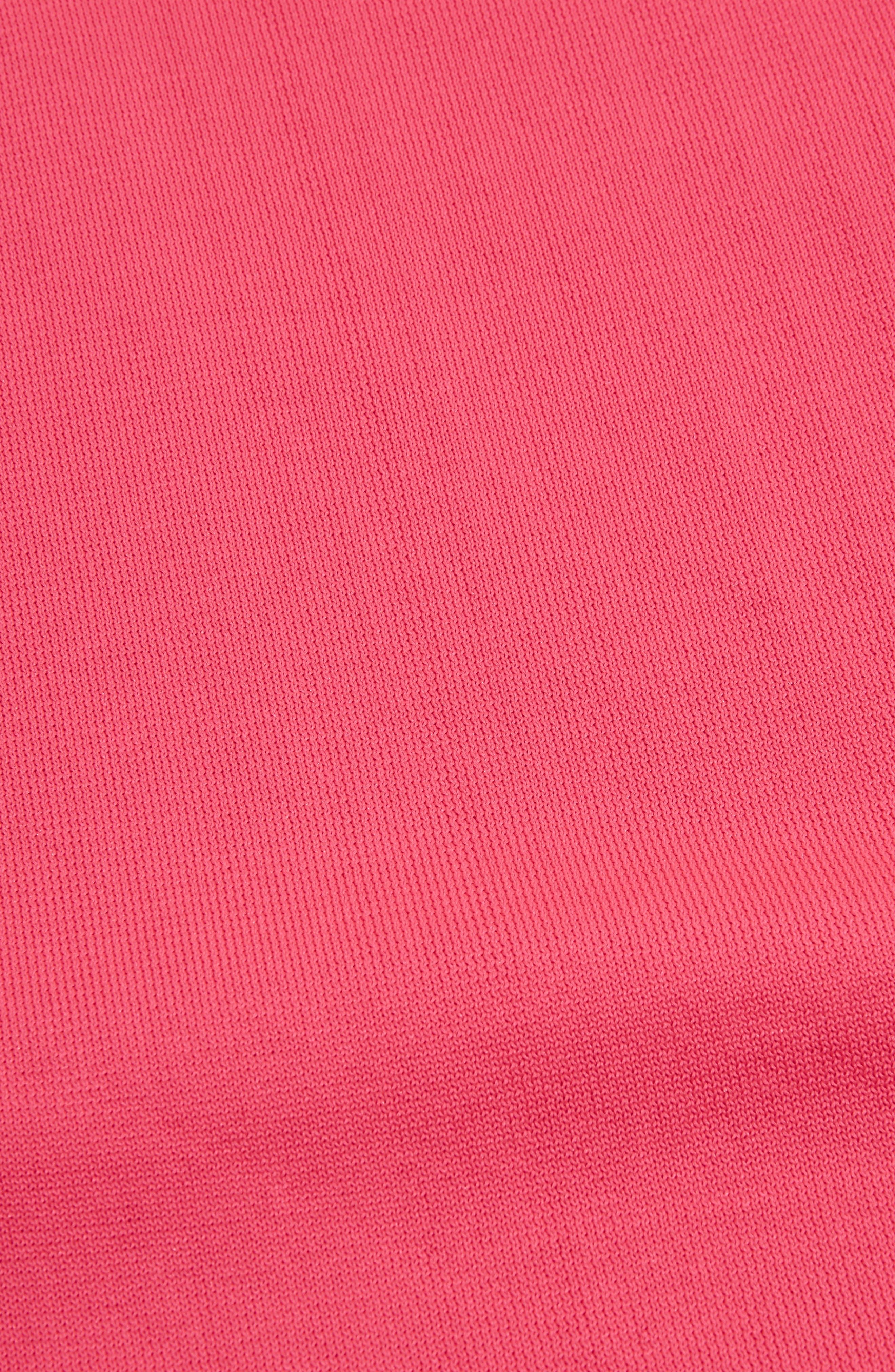 V-Neck Sweater,                             Alternate thumbnail 3, color,                             Bright Pink