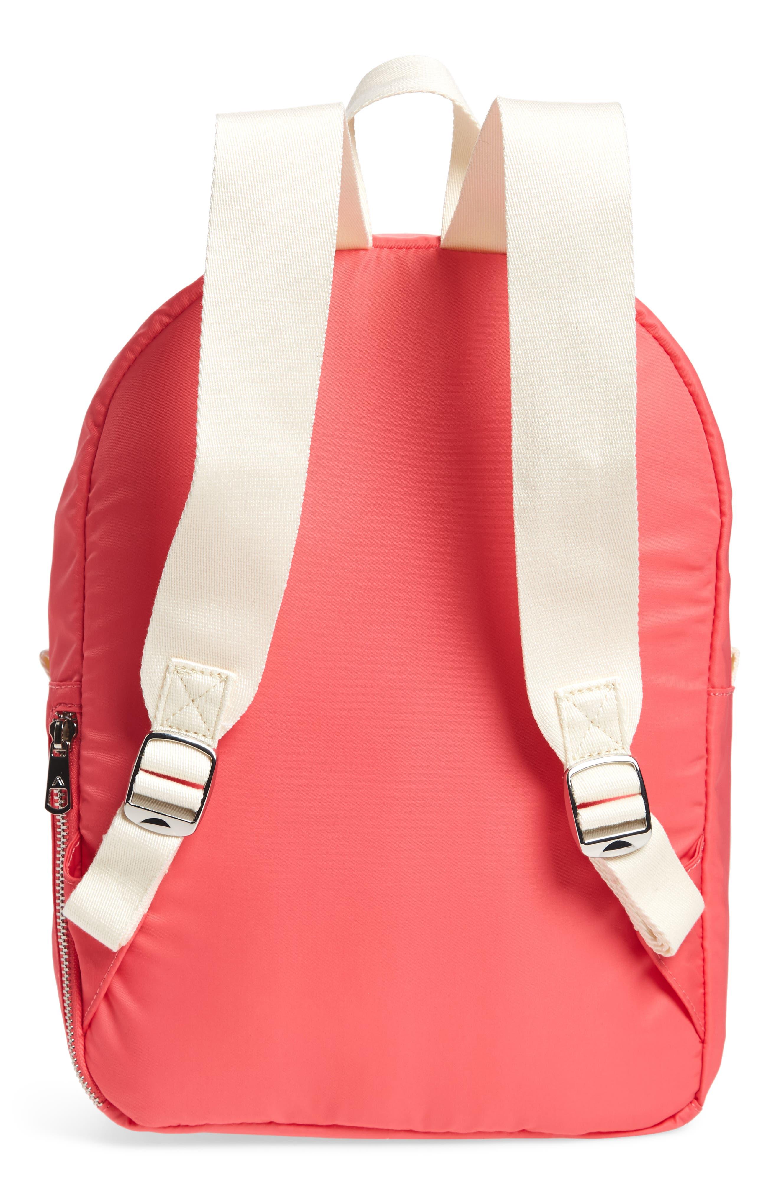 The Heights Mini Lorimer Nylon Backpack,                             Alternate thumbnail 3, color,                             Poppy