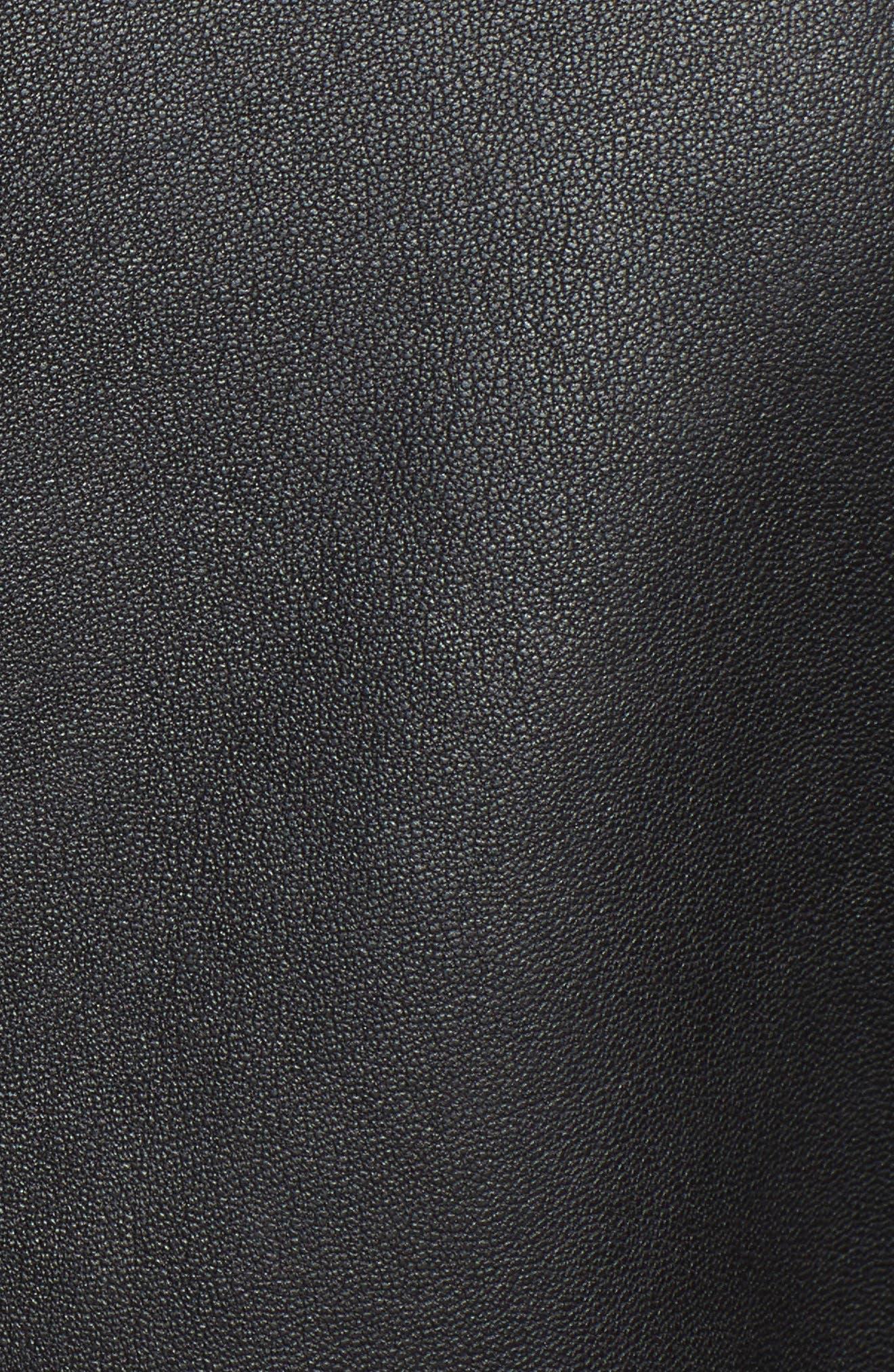 Alternate Image 5  - Ted Baker London Zip-Off Peplum Leather Biker Jacket
