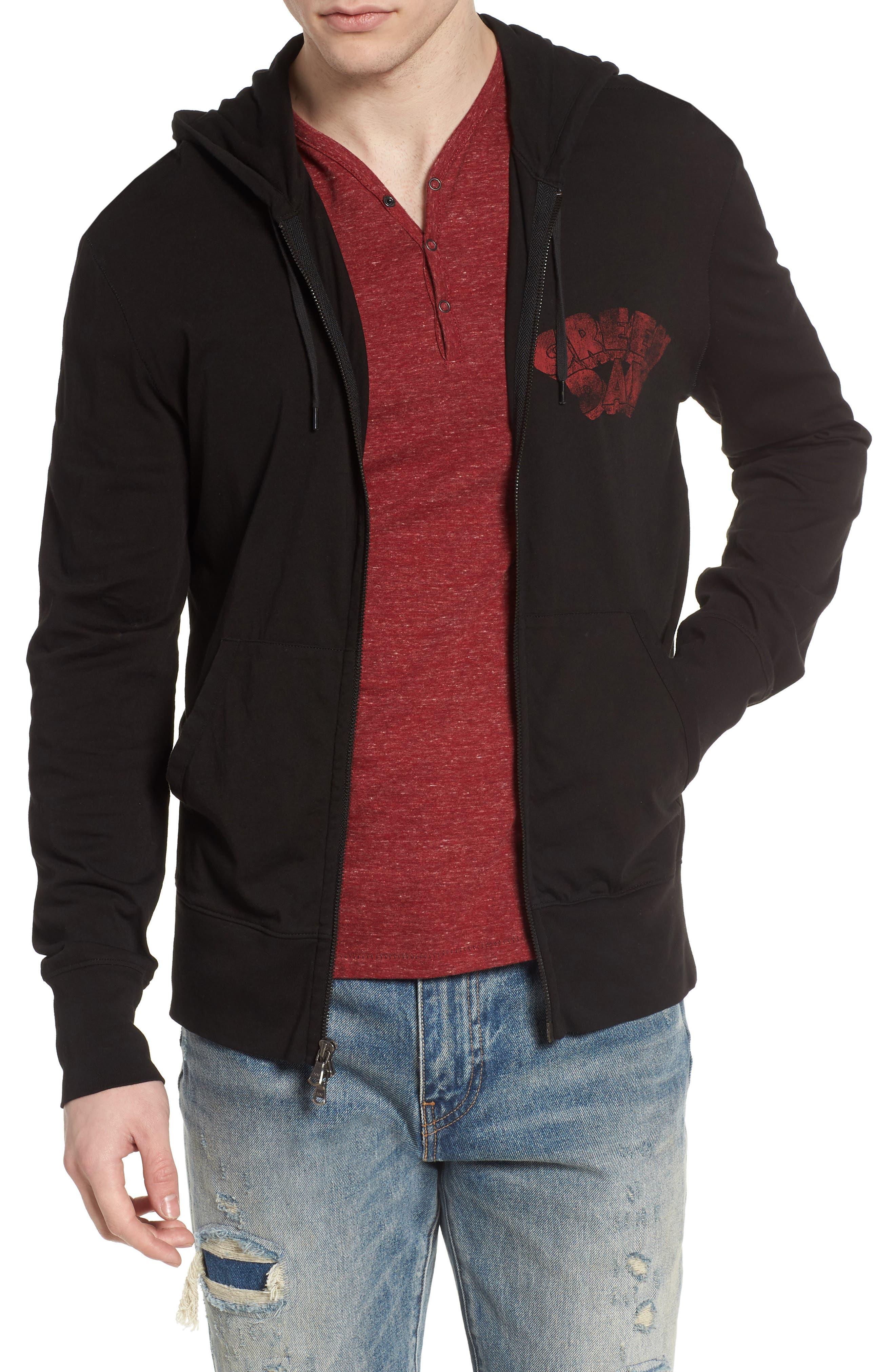John Varvatos Green Day Regular Fit Full Zip Hoodie