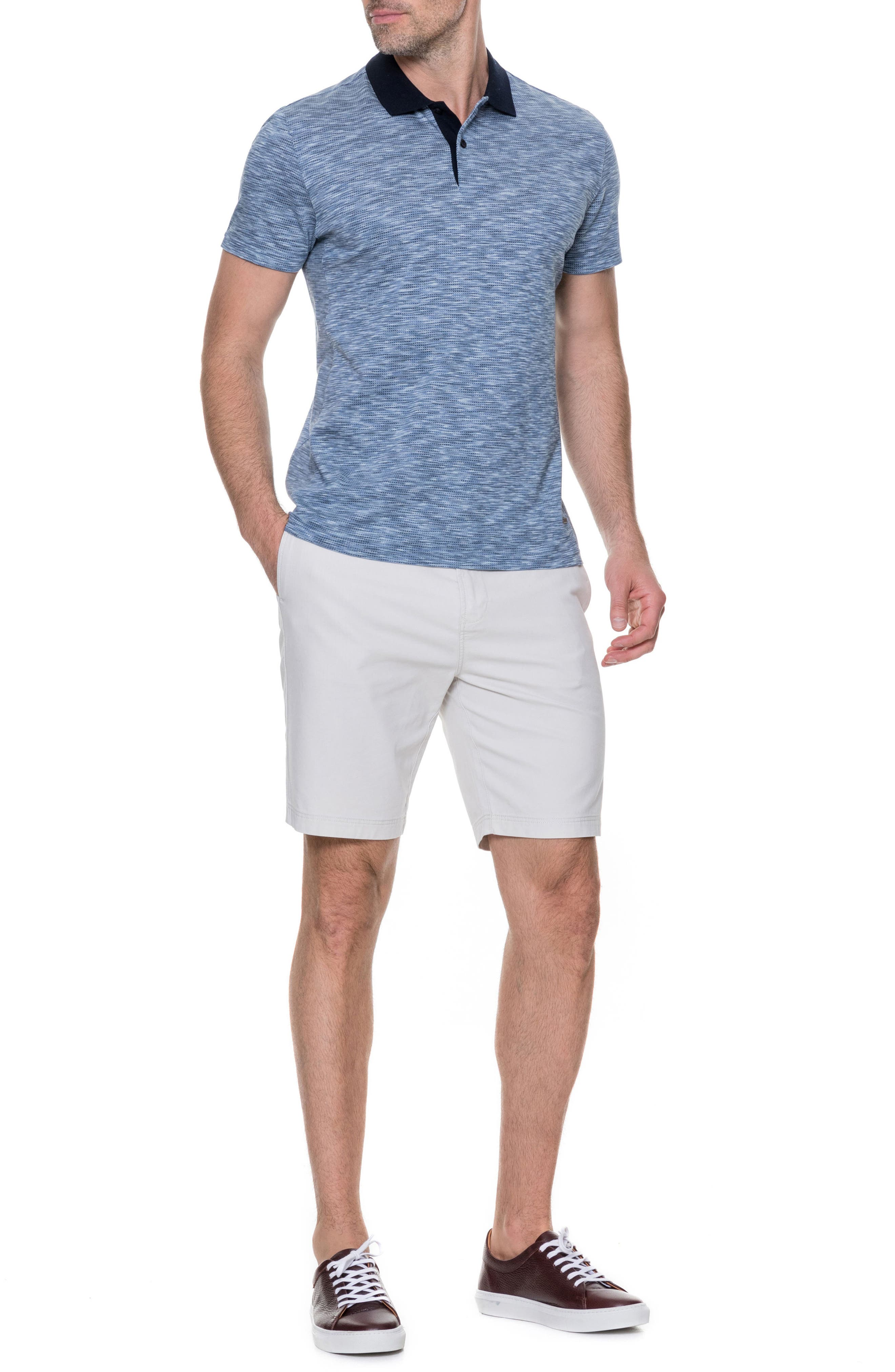 Raywood Sports Fit Polo,                             Alternate thumbnail 5, color,                             Blue Steel