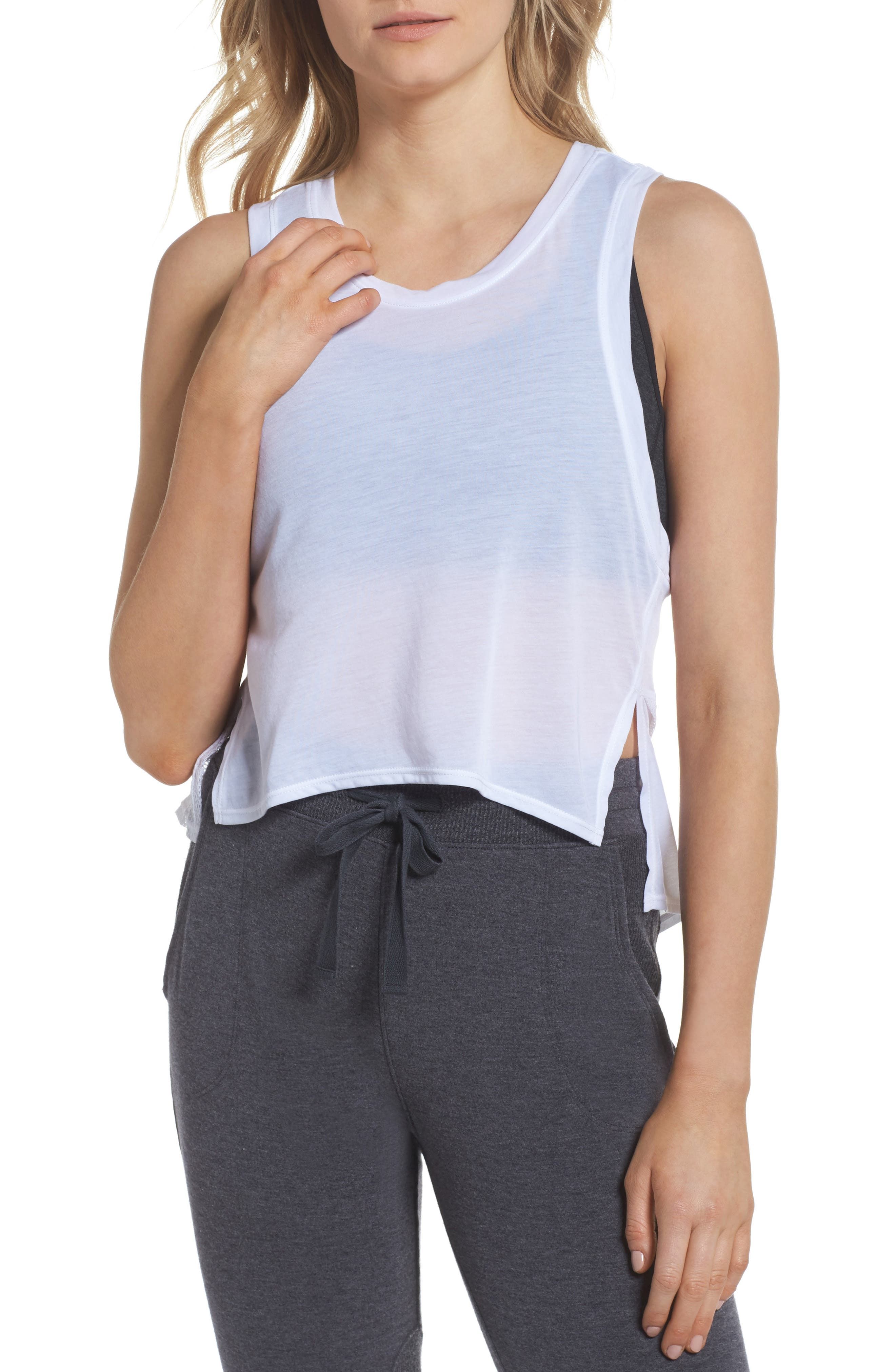 Mesh Mix Tank by Zella