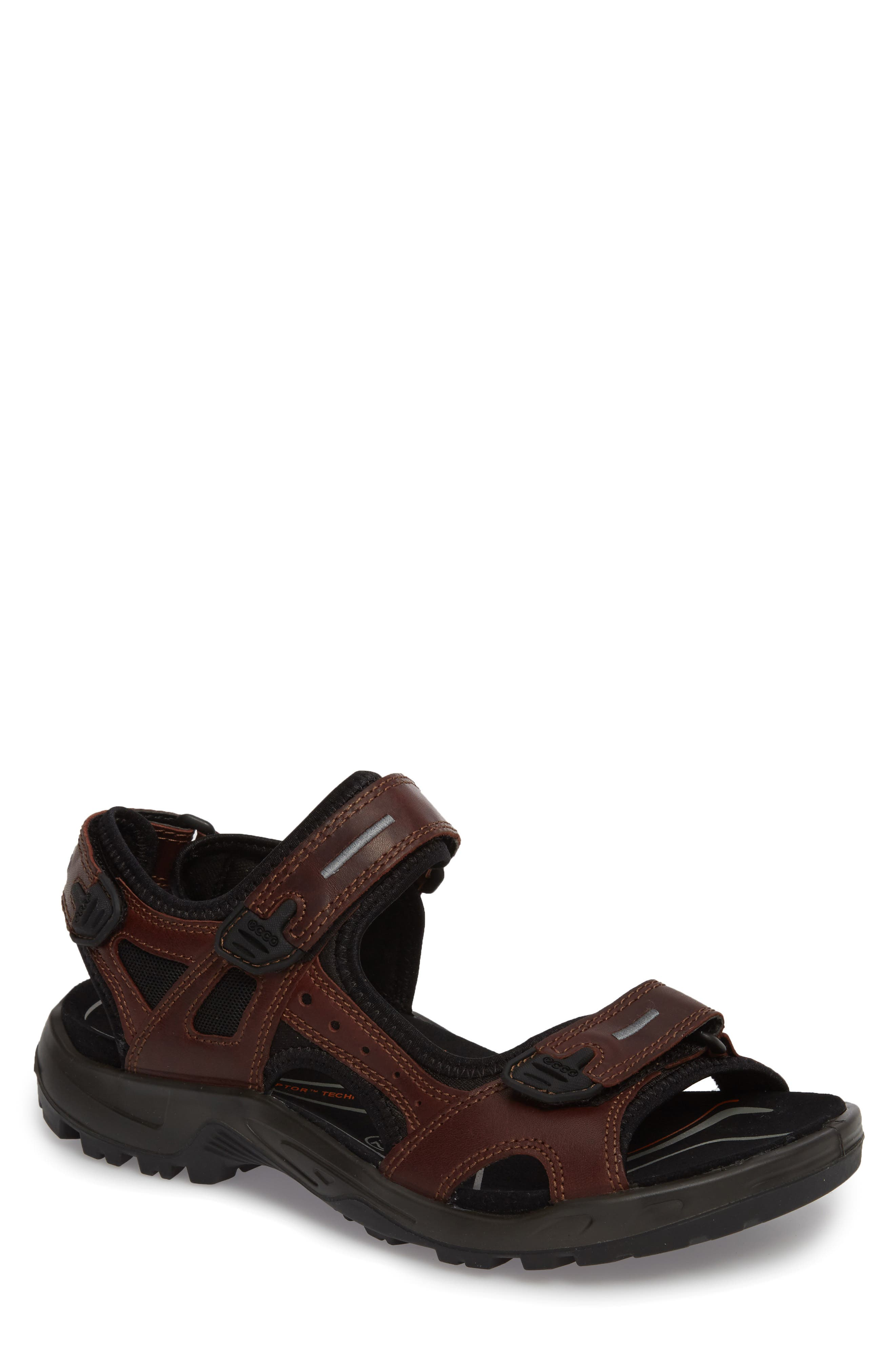 Offroad Sport Sandal,                             Main thumbnail 1, color,                             Brandy Leather