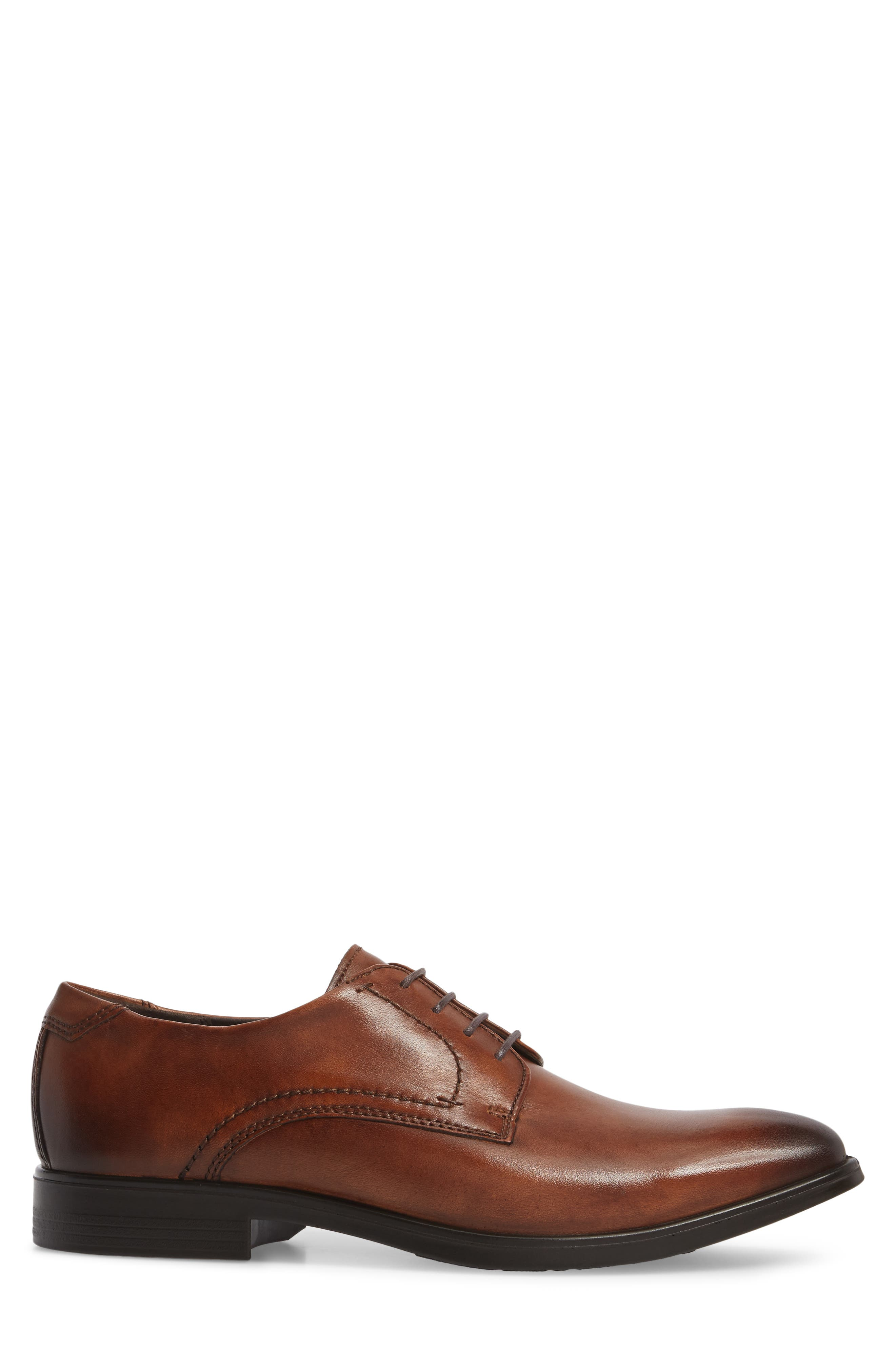 Melbourne Plain Toe Derby,                             Alternate thumbnail 3, color,                             Amber Leather
