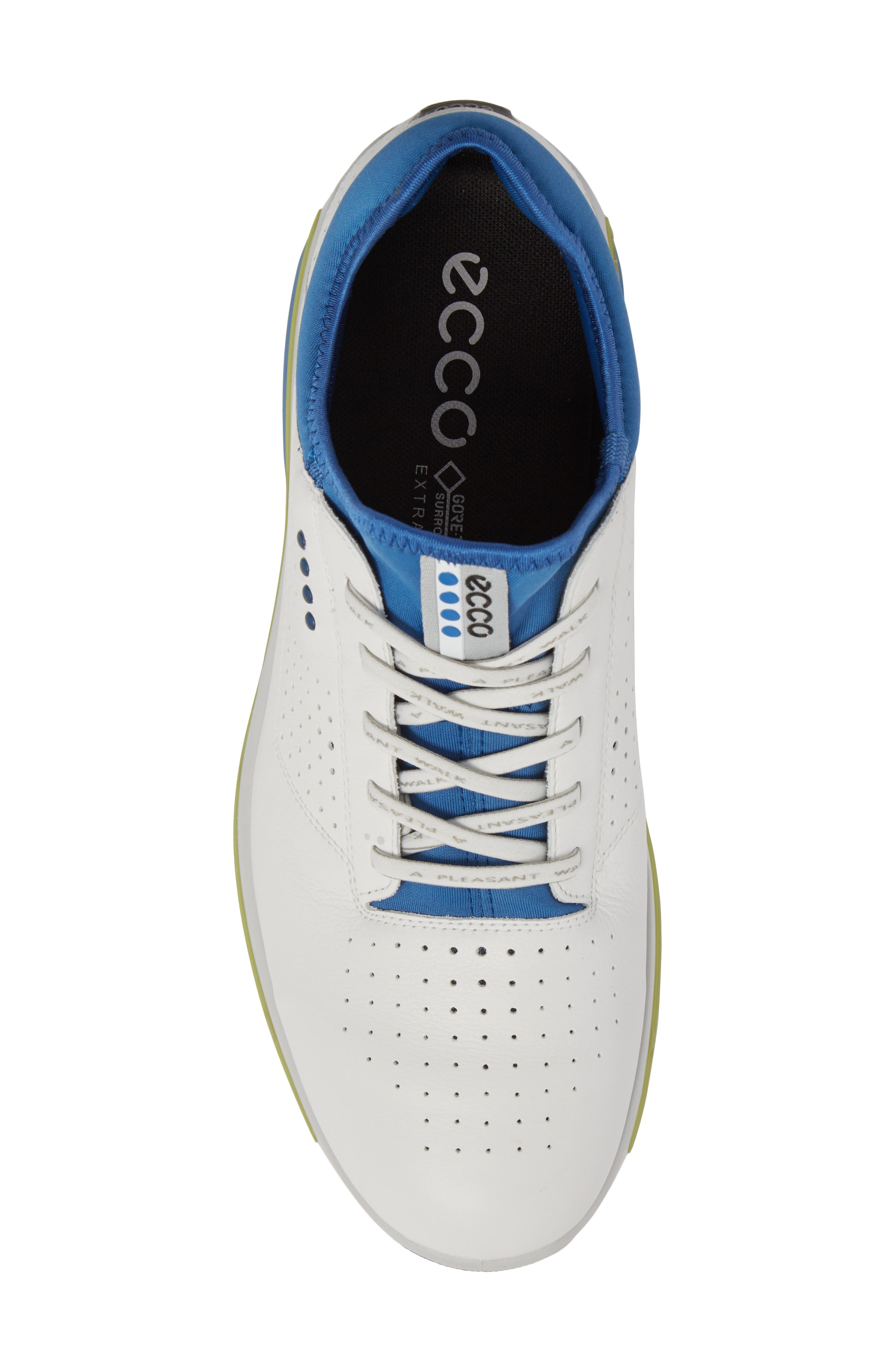 Cool 18 Gore-Tex Golf Shoe,                             Alternate thumbnail 5, color,                             White Leather