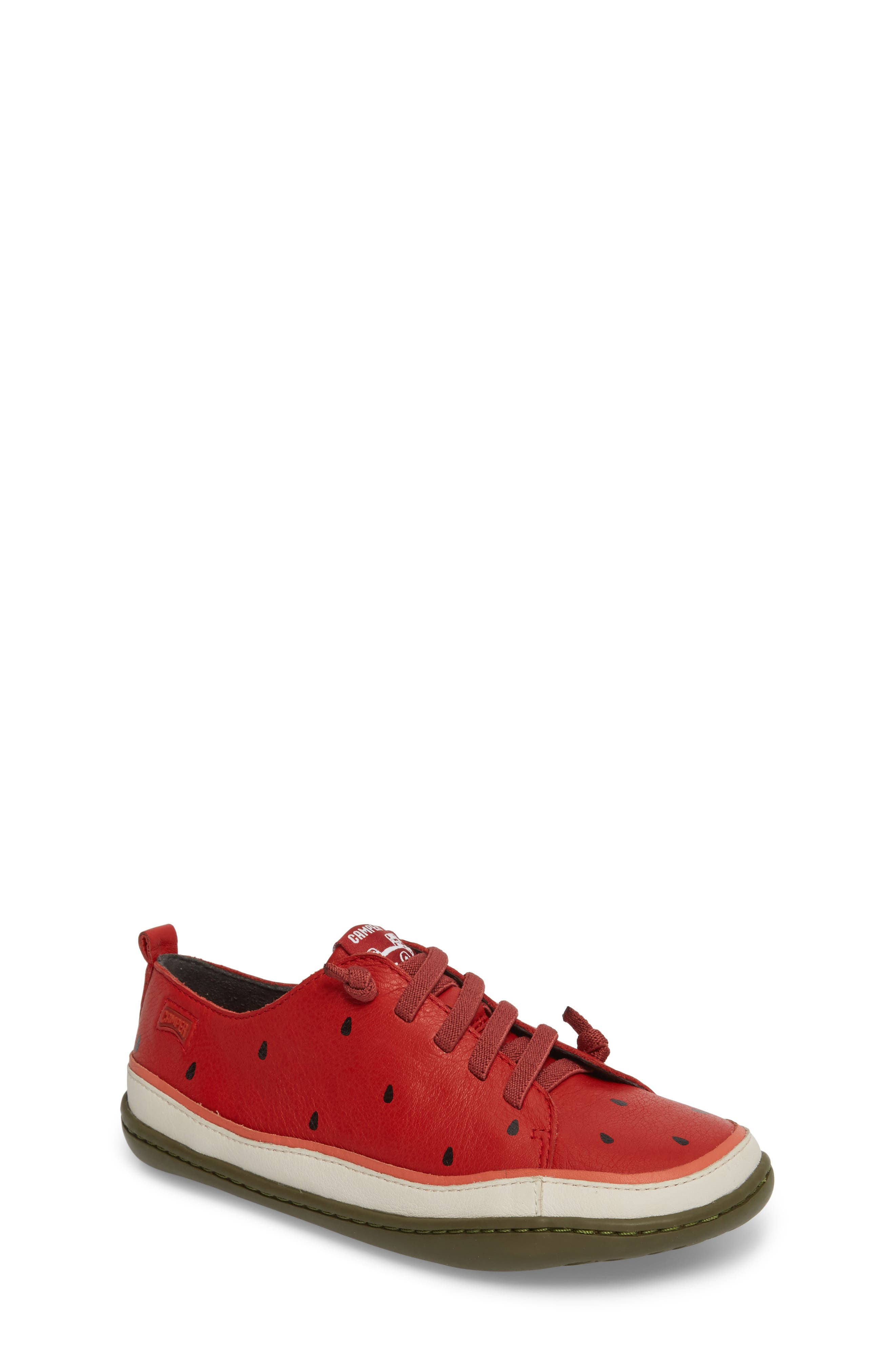 Twins Watermelon Sneaker,                             Main thumbnail 1, color,                             Red