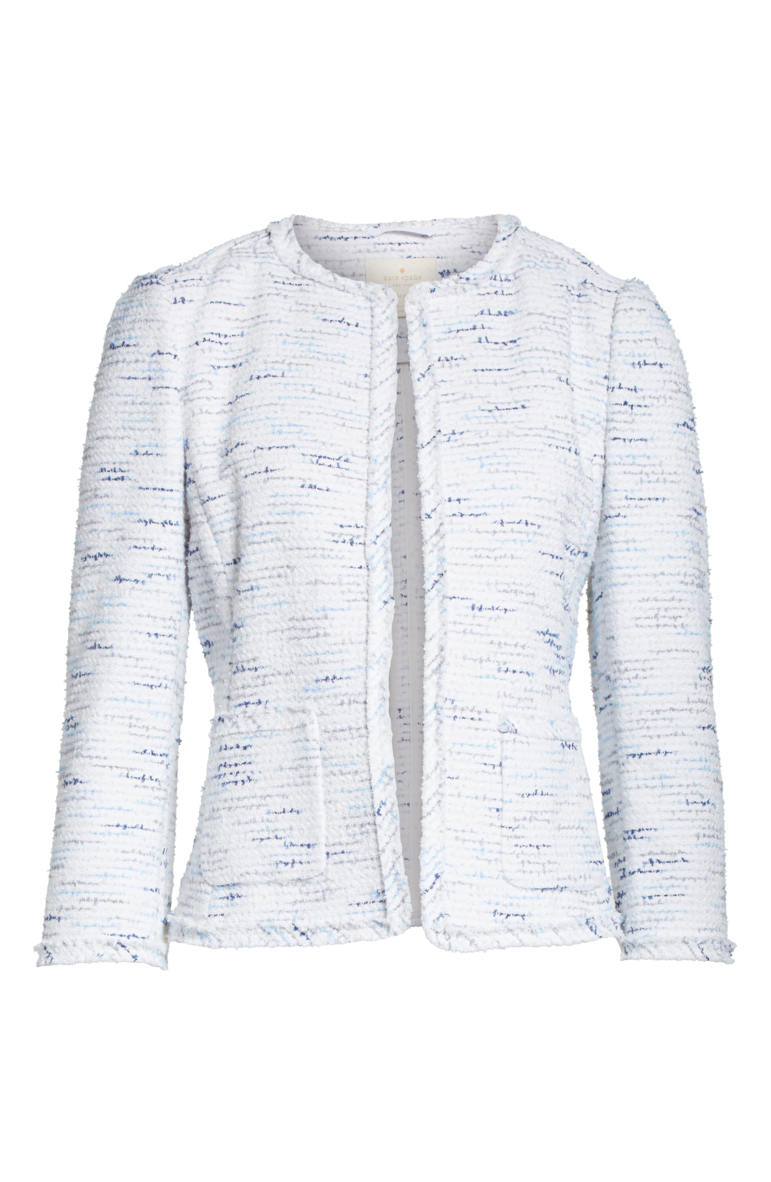 tweed jacket,                             Alternate thumbnail 6, color,                             Multi