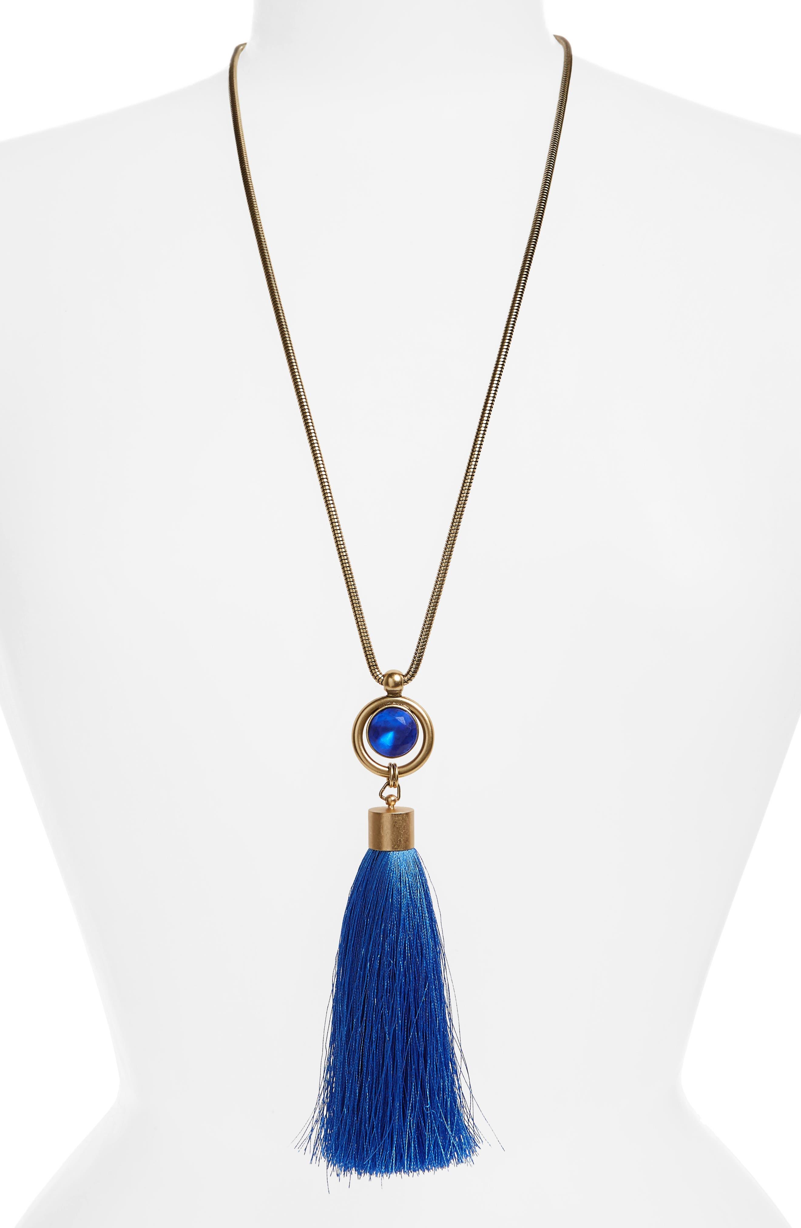 Main Image - Loren Hope Scarlet Tassel Pendant Necklace