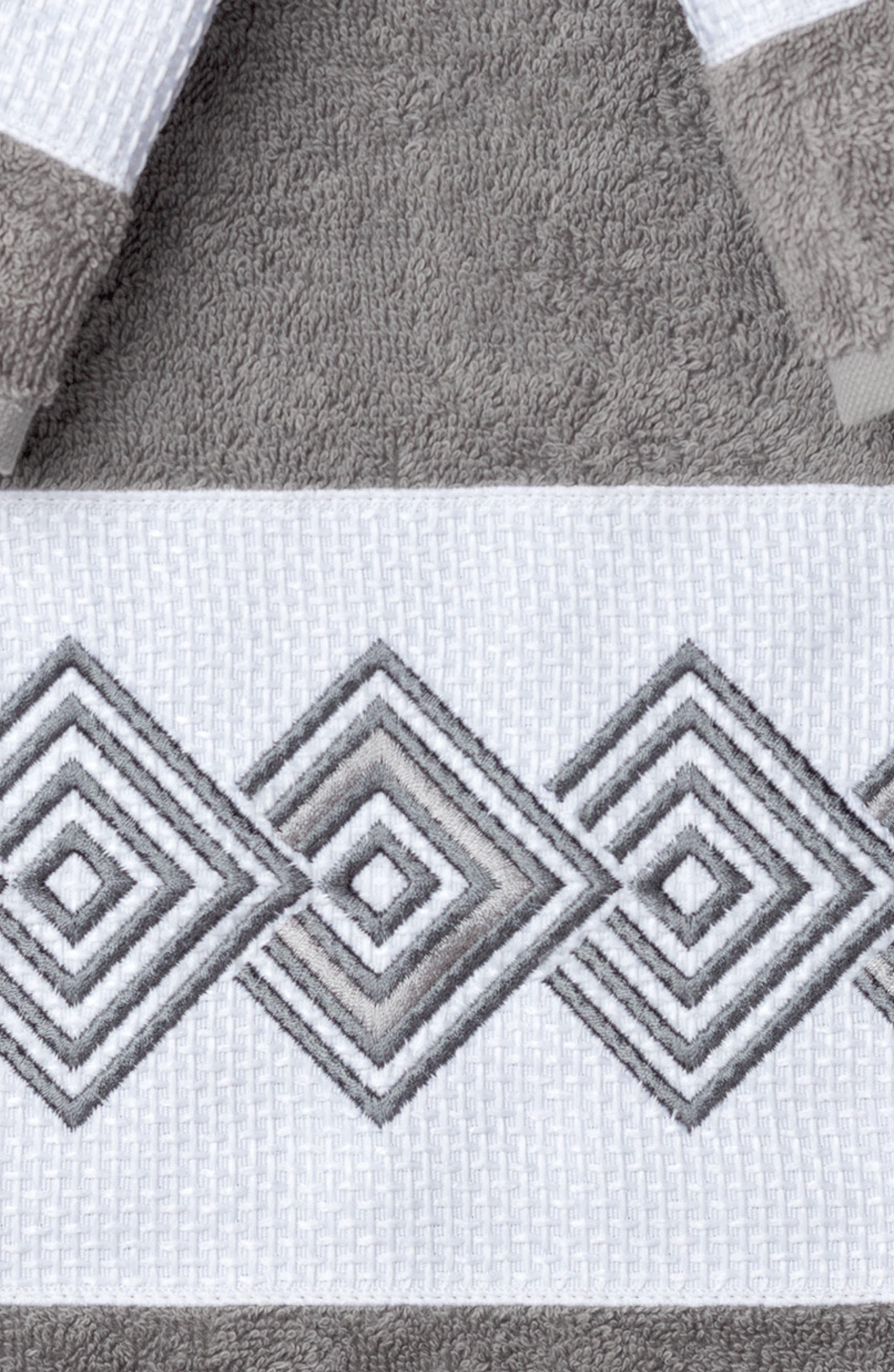 Noah 3-Piece Turkish Cotton Towel Set,                             Alternate thumbnail 2, color,                             Dark Grey