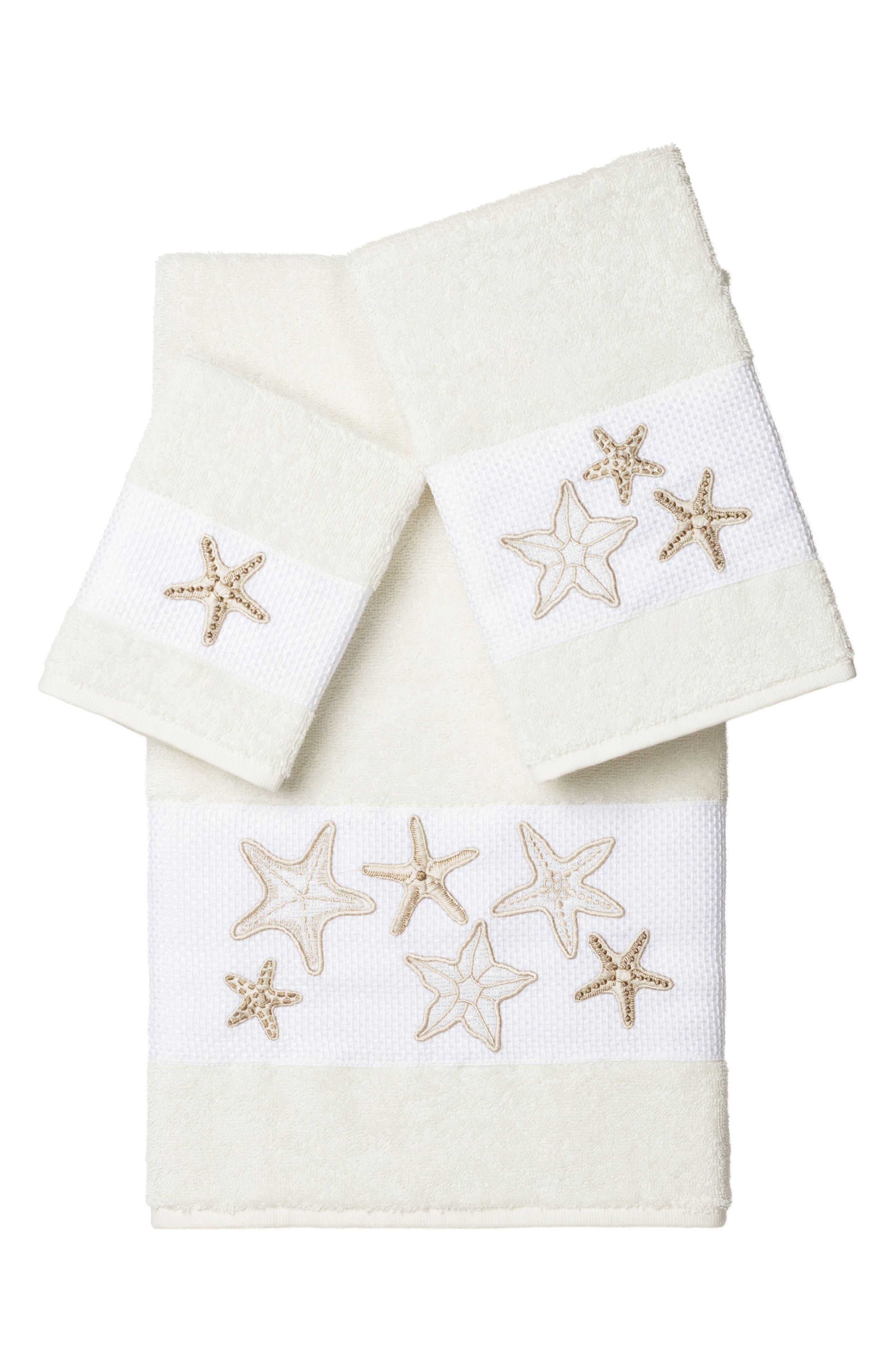 Lydia 3-Piece Turkish Cotton Towel Set,                             Main thumbnail 1, color,                             Cream