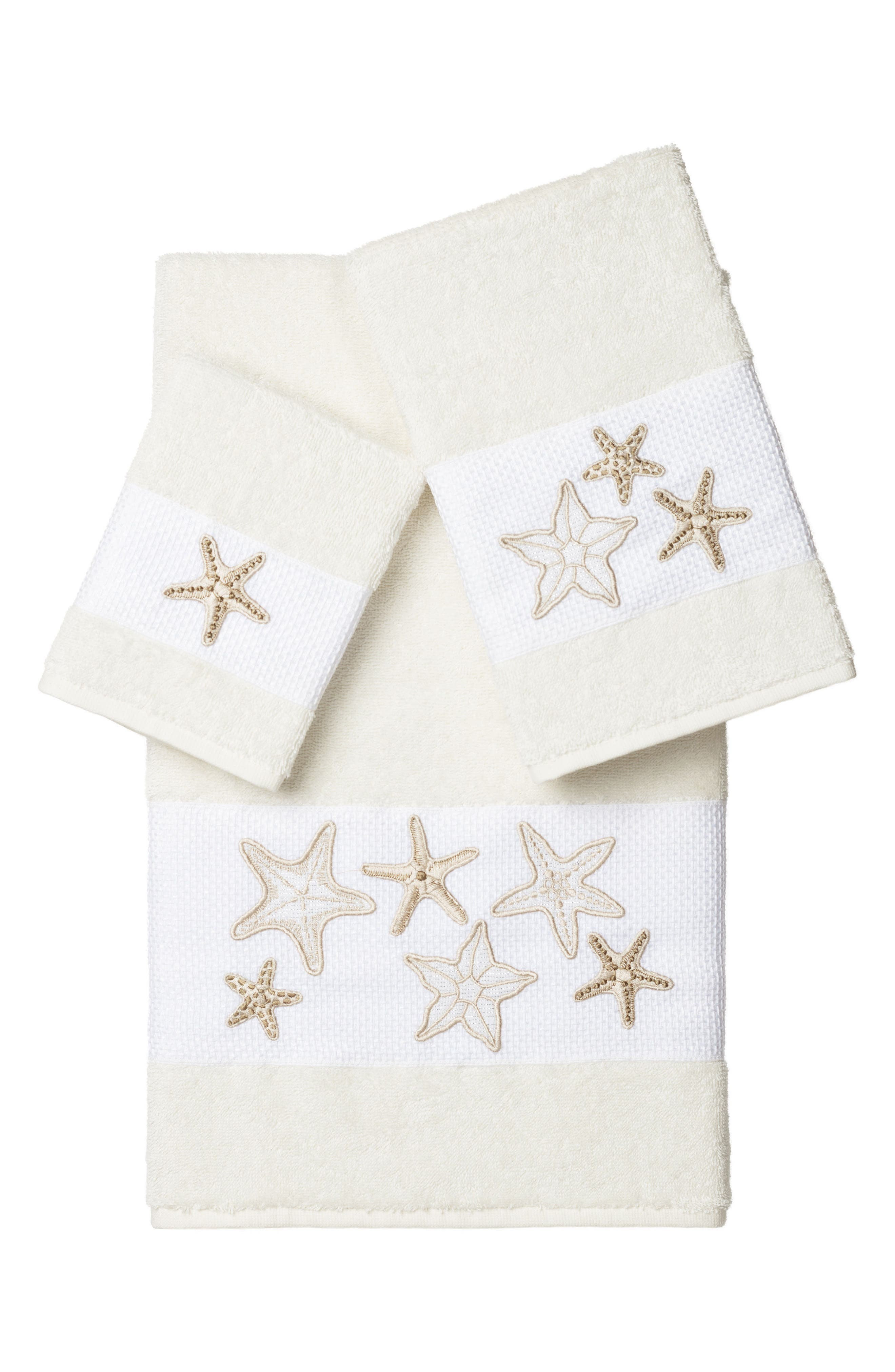 Lydia 3-Piece Turkish Cotton Towel Set,                         Main,                         color, Cream
