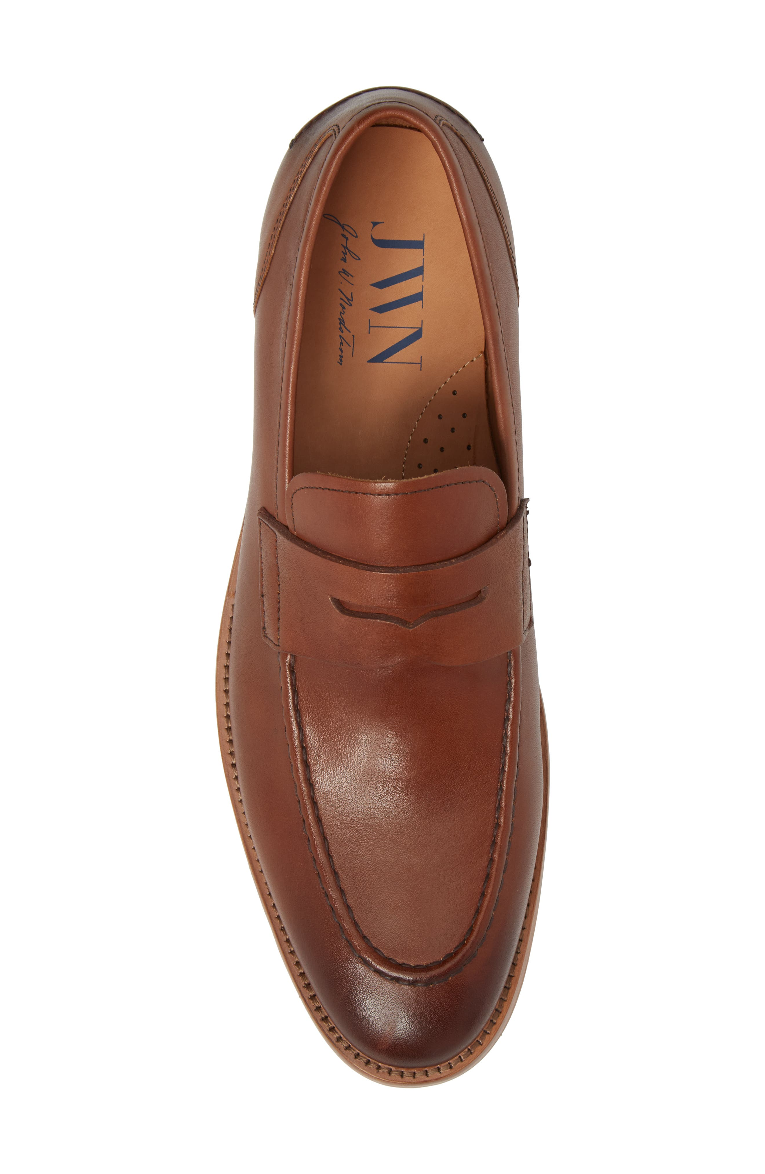 Lucas Loafer,                             Alternate thumbnail 5, color,                             Luggage Leather