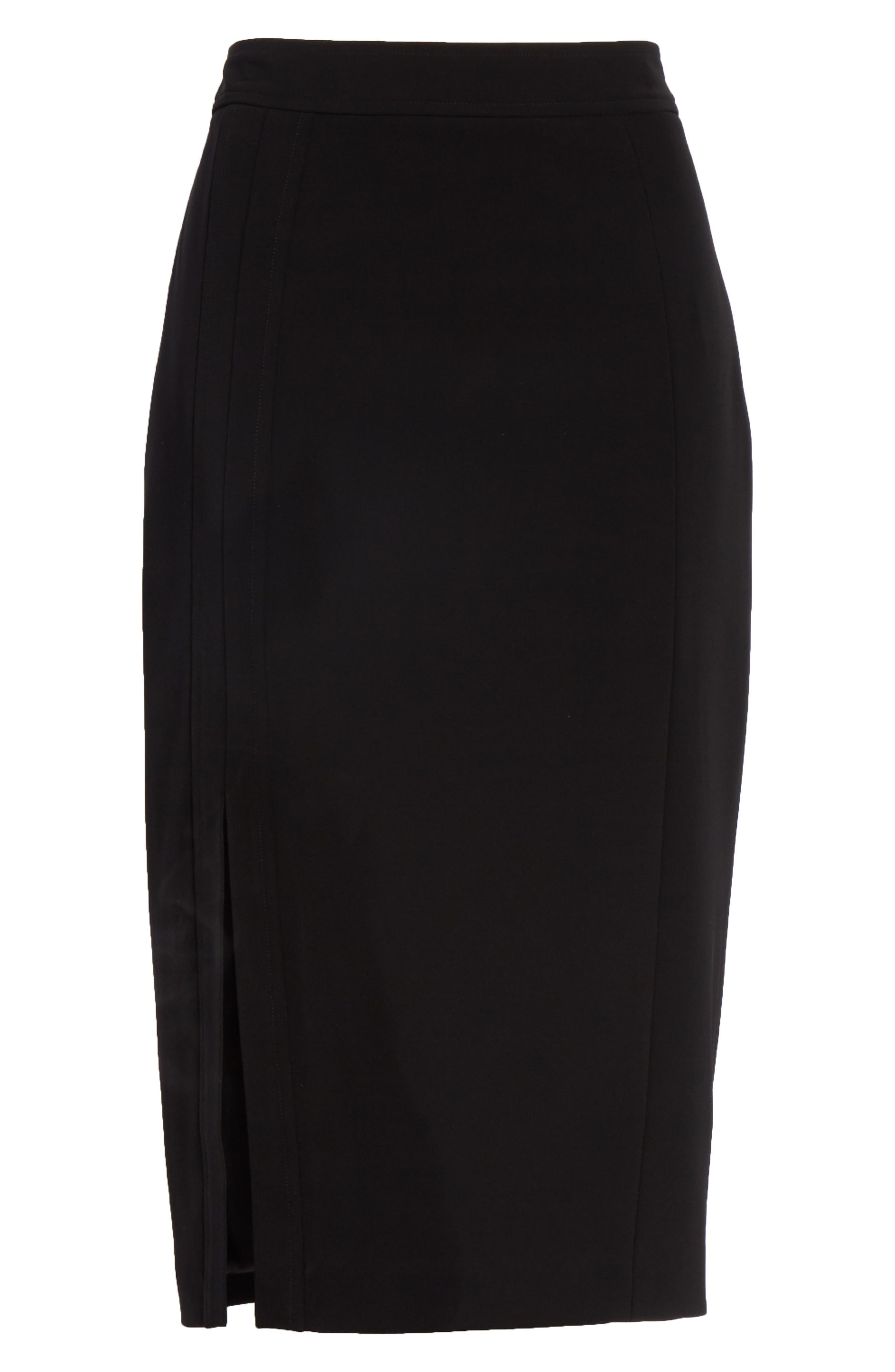 Pencil Skirt,                             Alternate thumbnail 6, color,                             Black