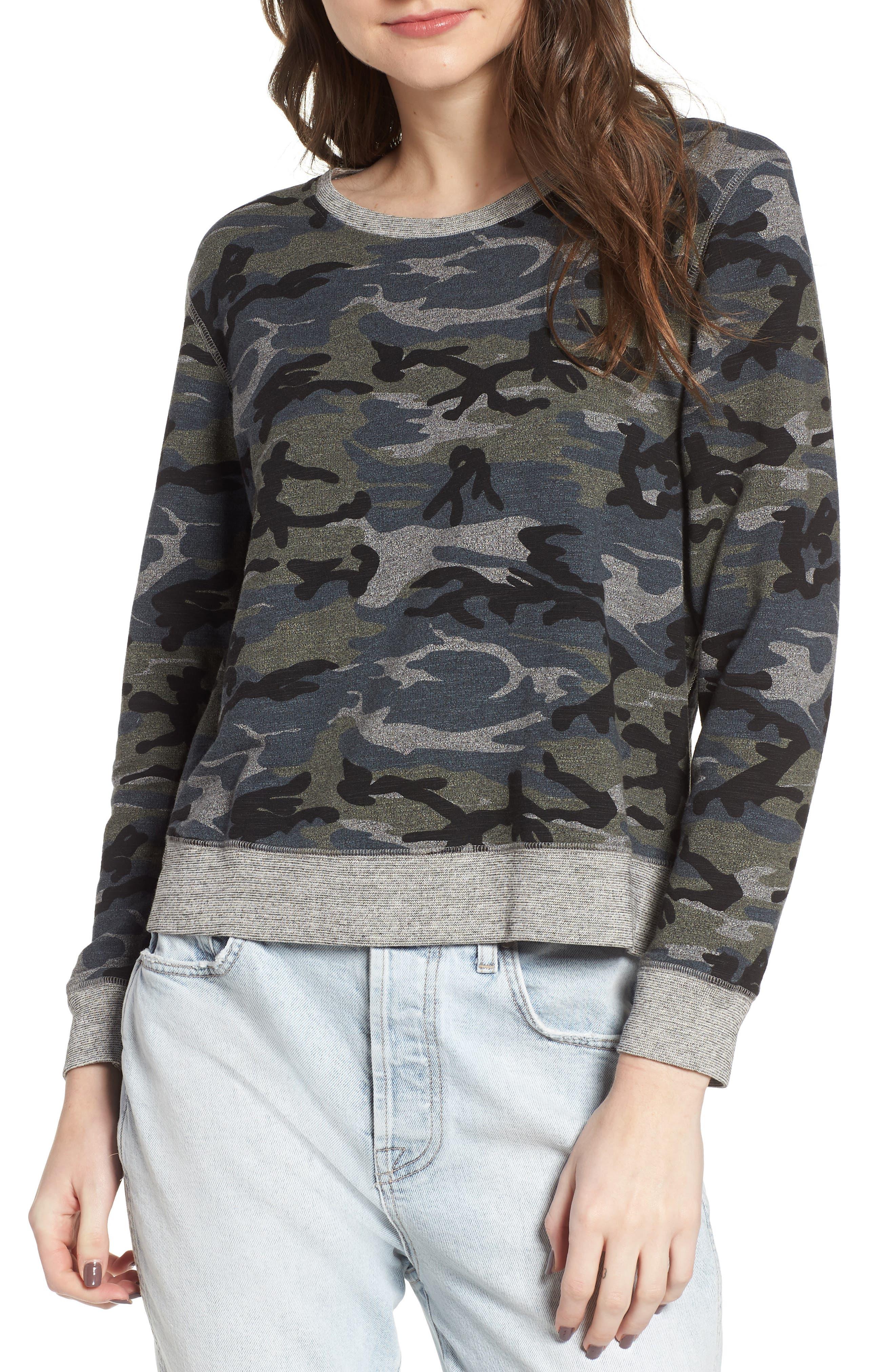 Camo Pullover,                         Main,                         color, Grey