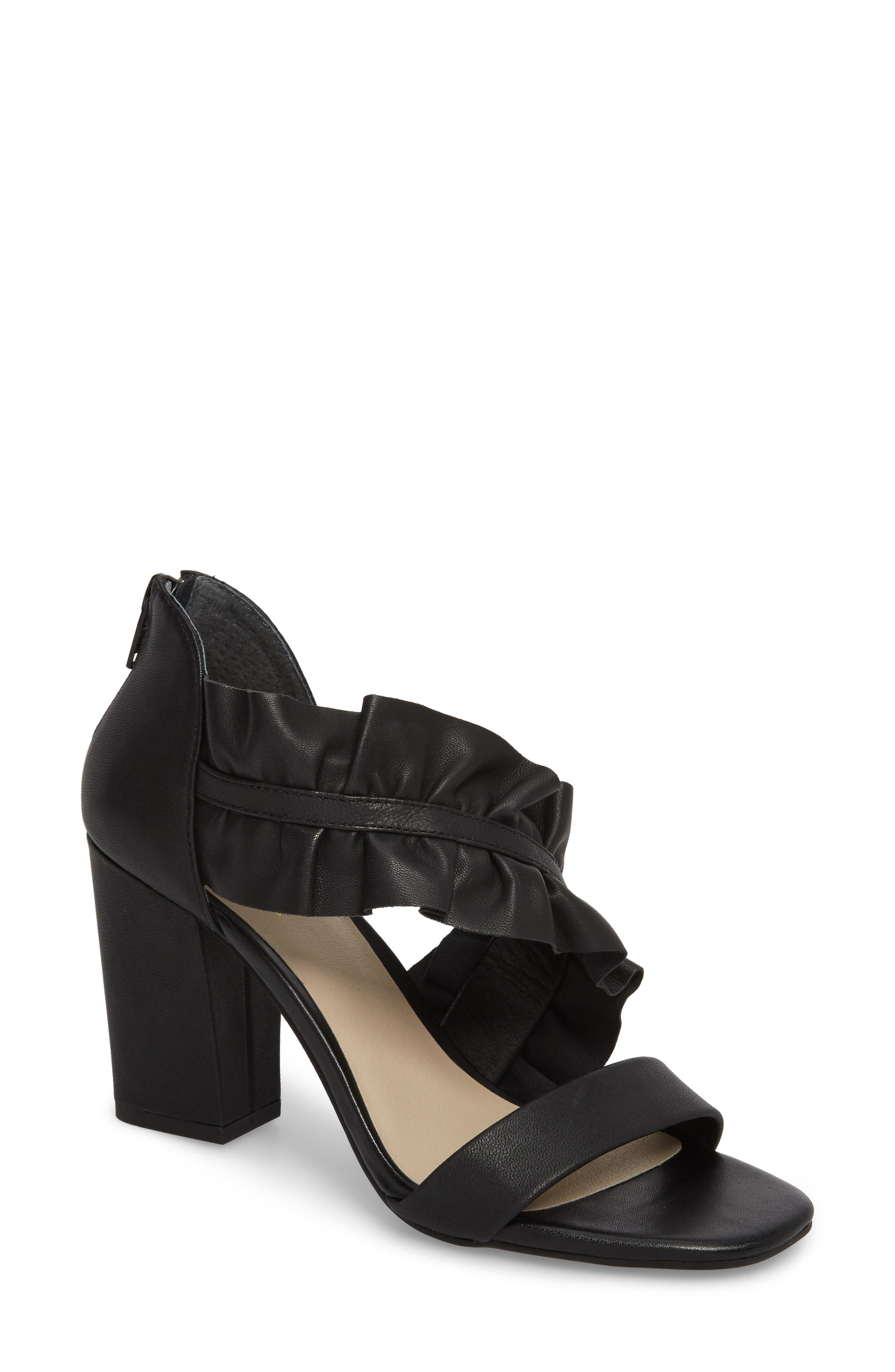 To-Do List Sandal,                         Main,                         color, Black Leather