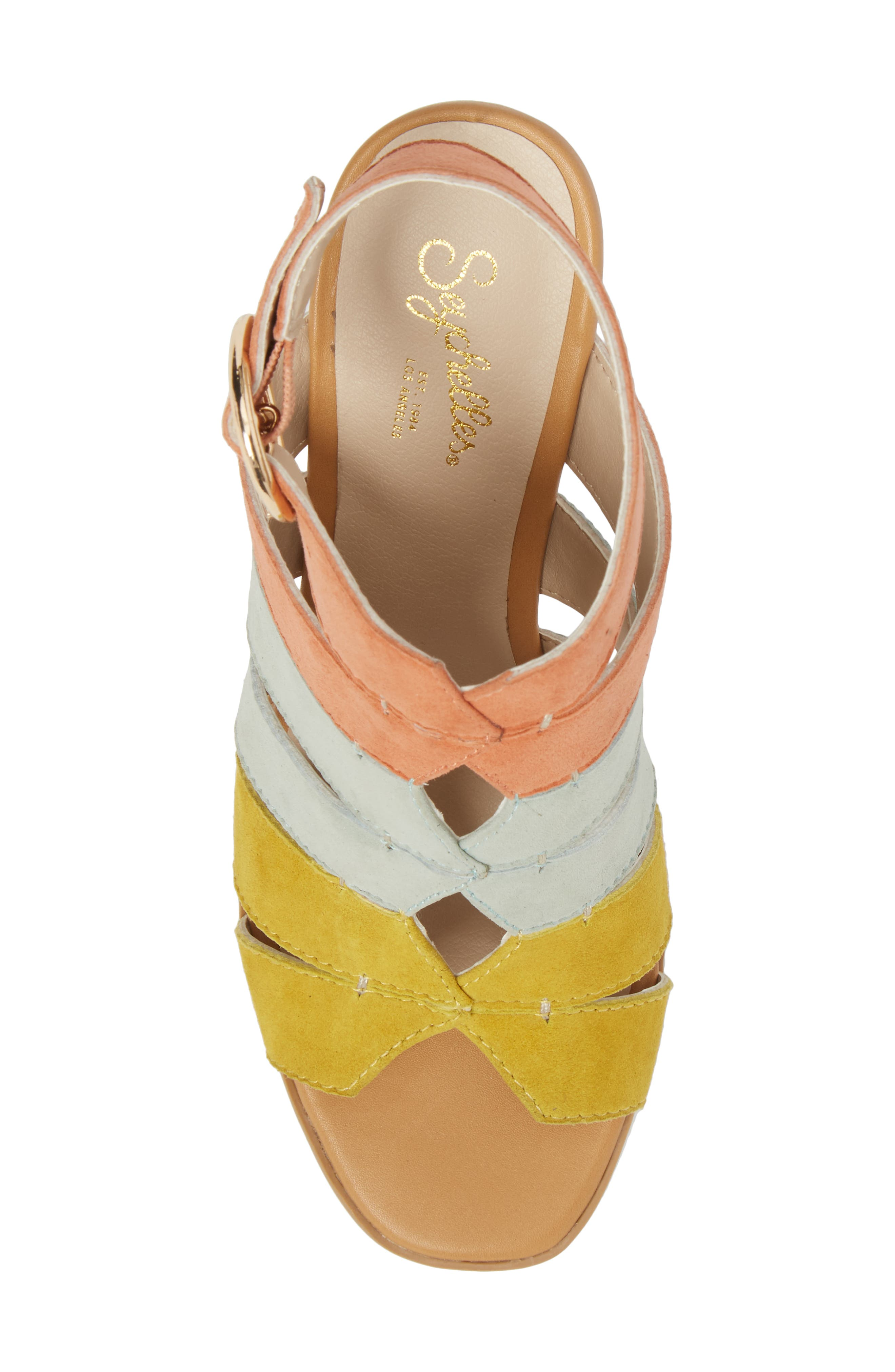 Completely Engaged Sandal,                             Alternate thumbnail 5, color,                             Pastel Multi Suede