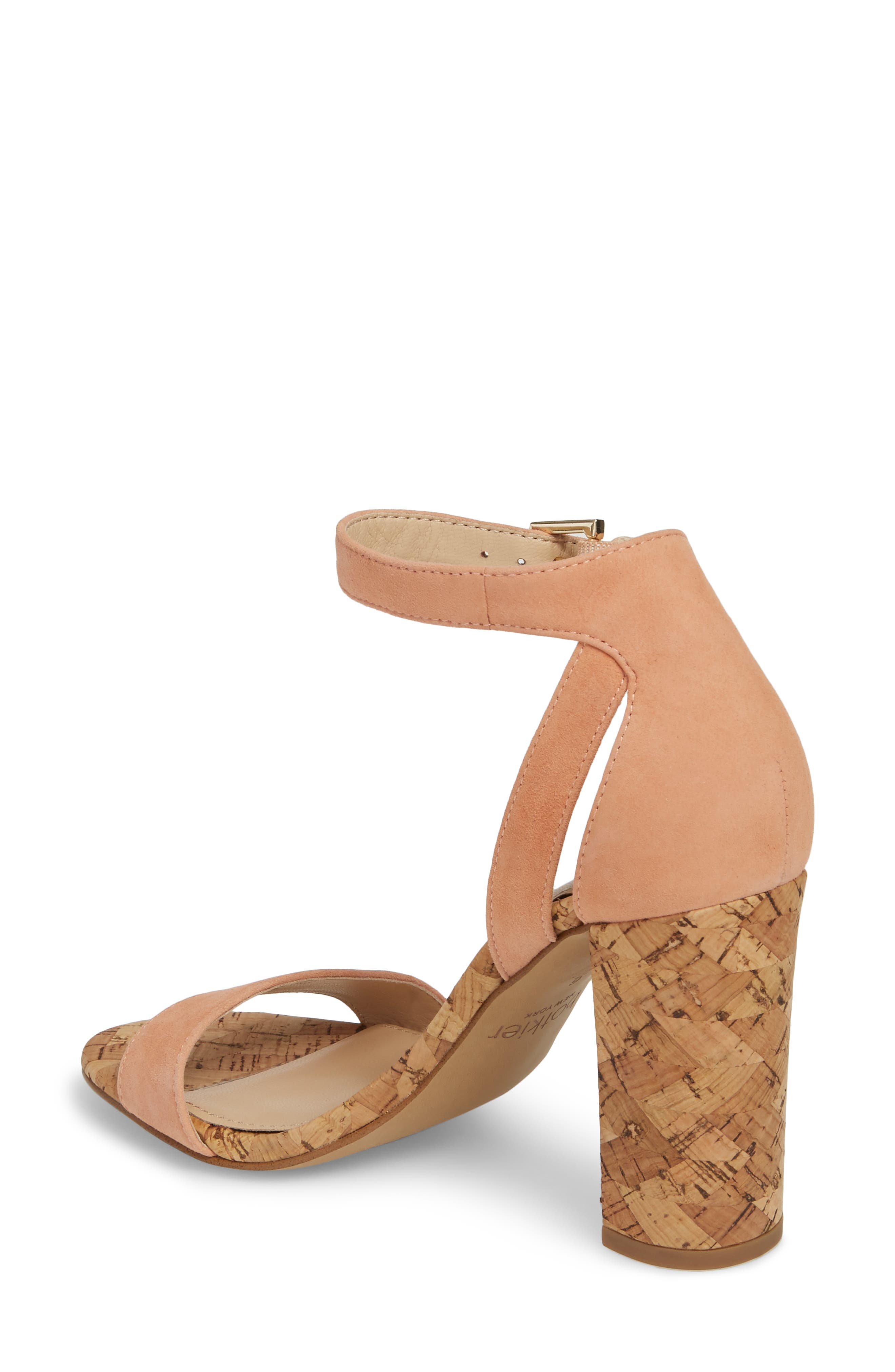 Gianna Ankle Strap Sandal,                             Alternate thumbnail 2, color,                             Soft Peach Suede