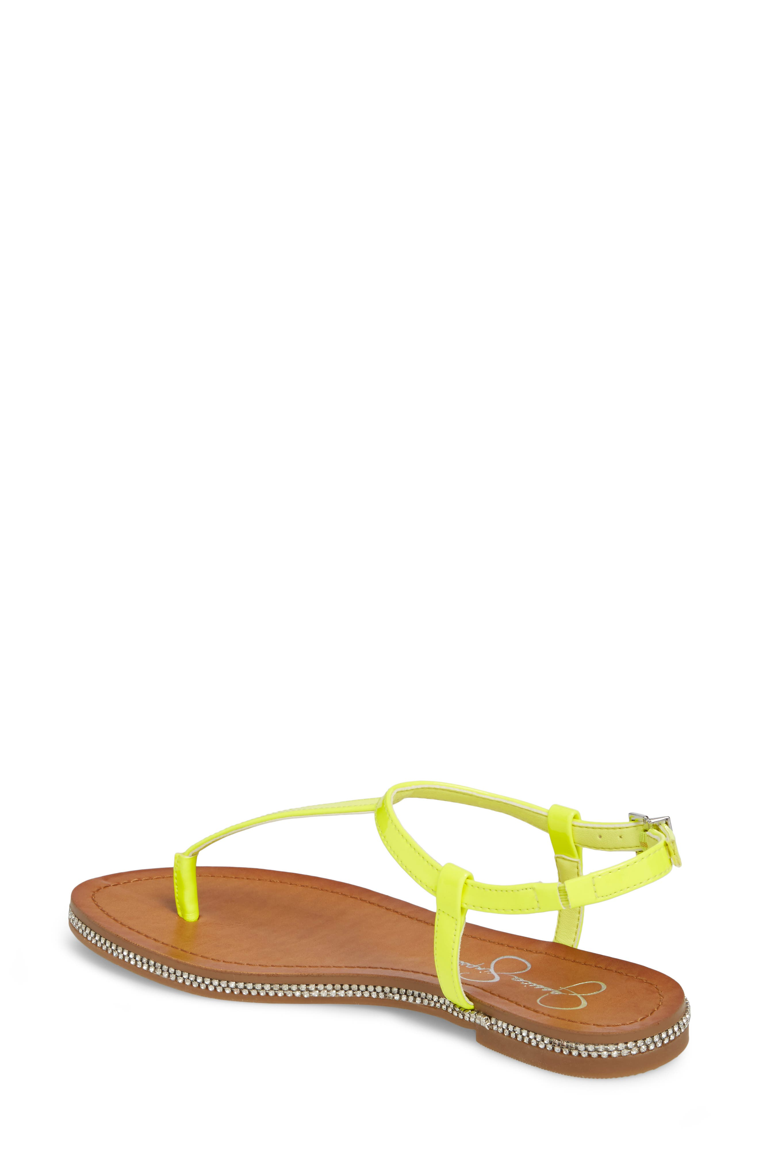 Brimah Sandal,                             Alternate thumbnail 2, color,                             Yellow Shock