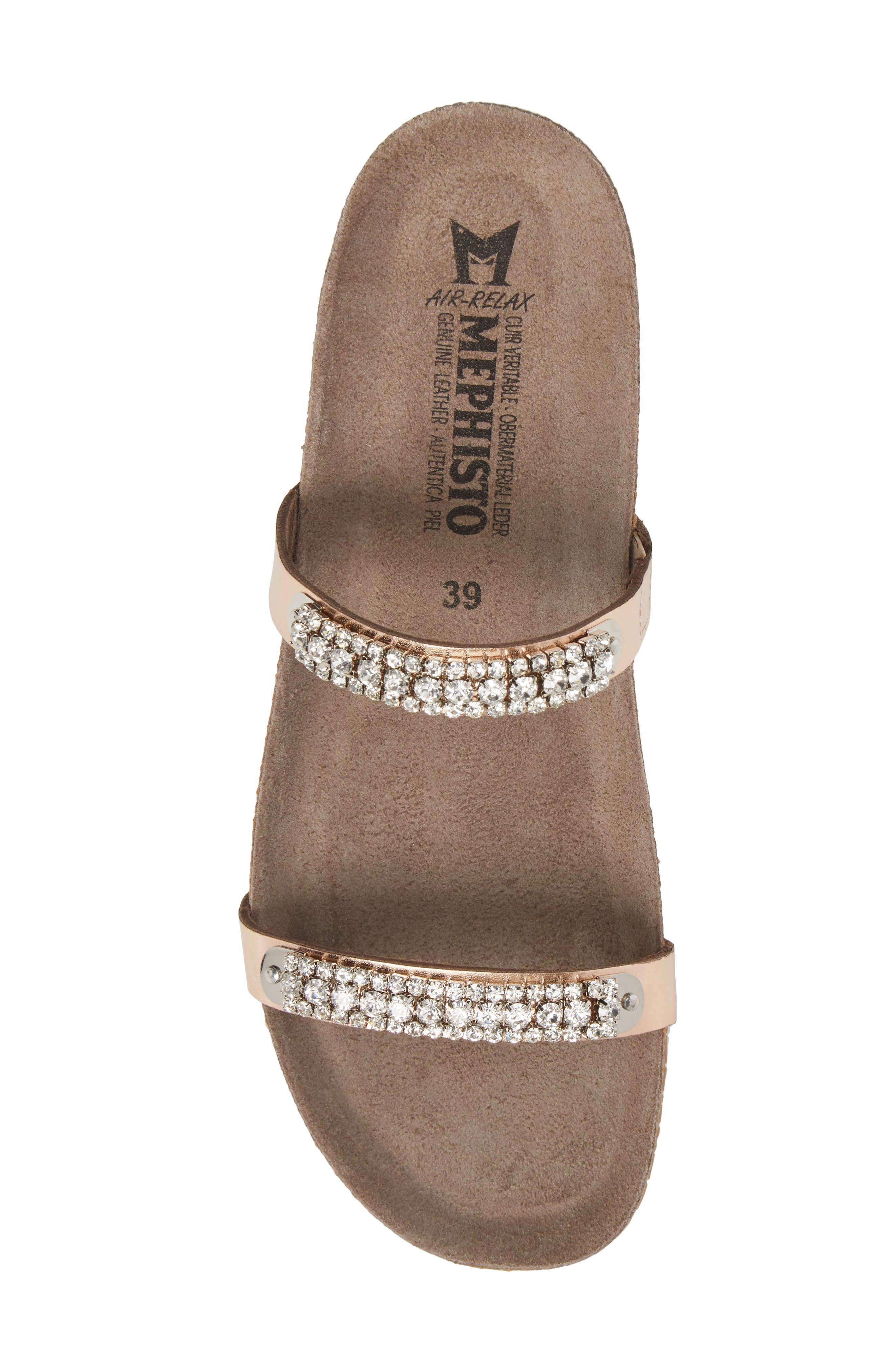 'Ivana' Crystal Embellished Slide Sandal,                             Alternate thumbnail 5, color,                             Old Pink Leather