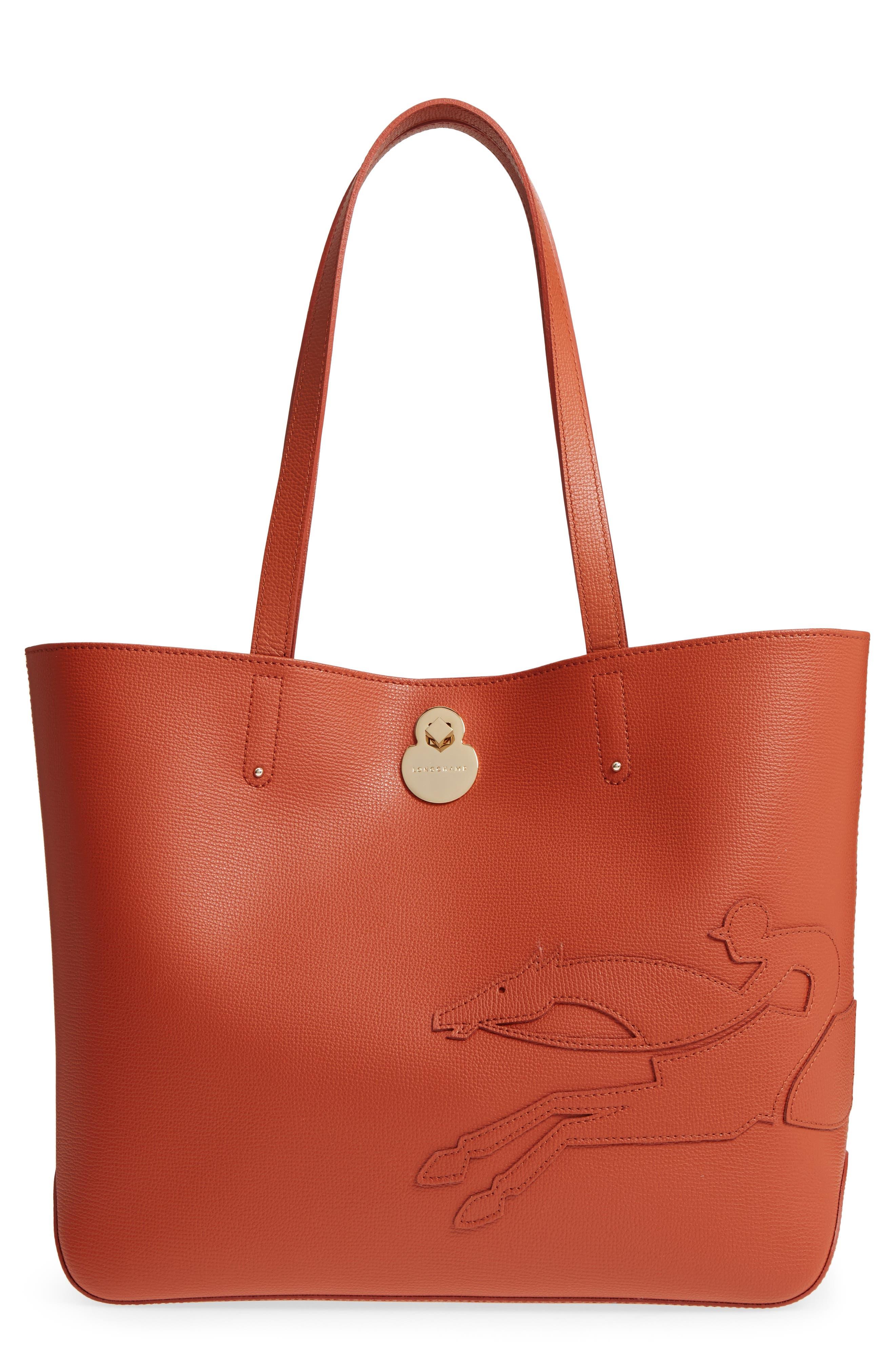 Longchamp Medium Shop-It Leather Tote