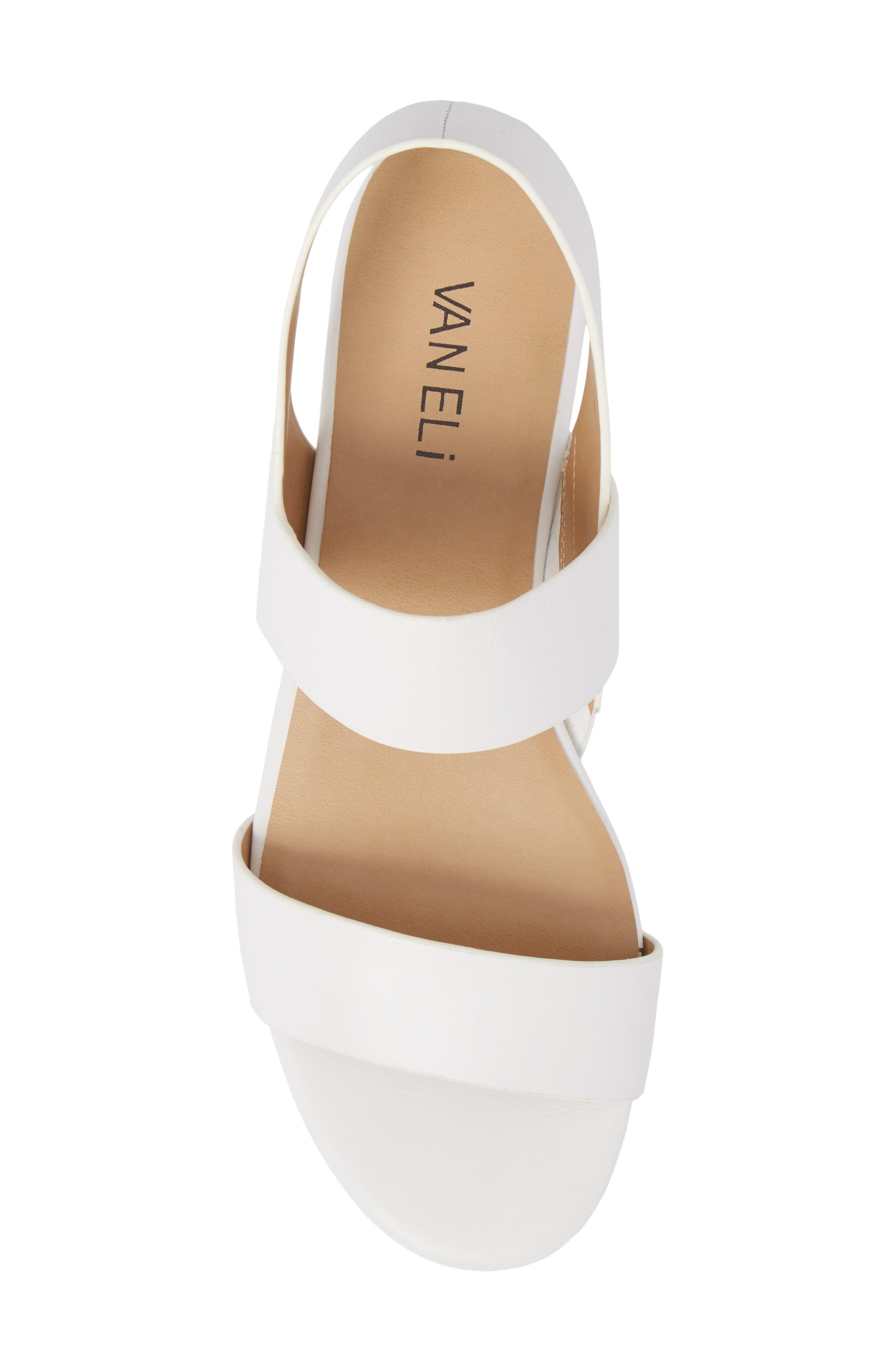 Blanka Sandal,                             Alternate thumbnail 5, color,                             White Leather