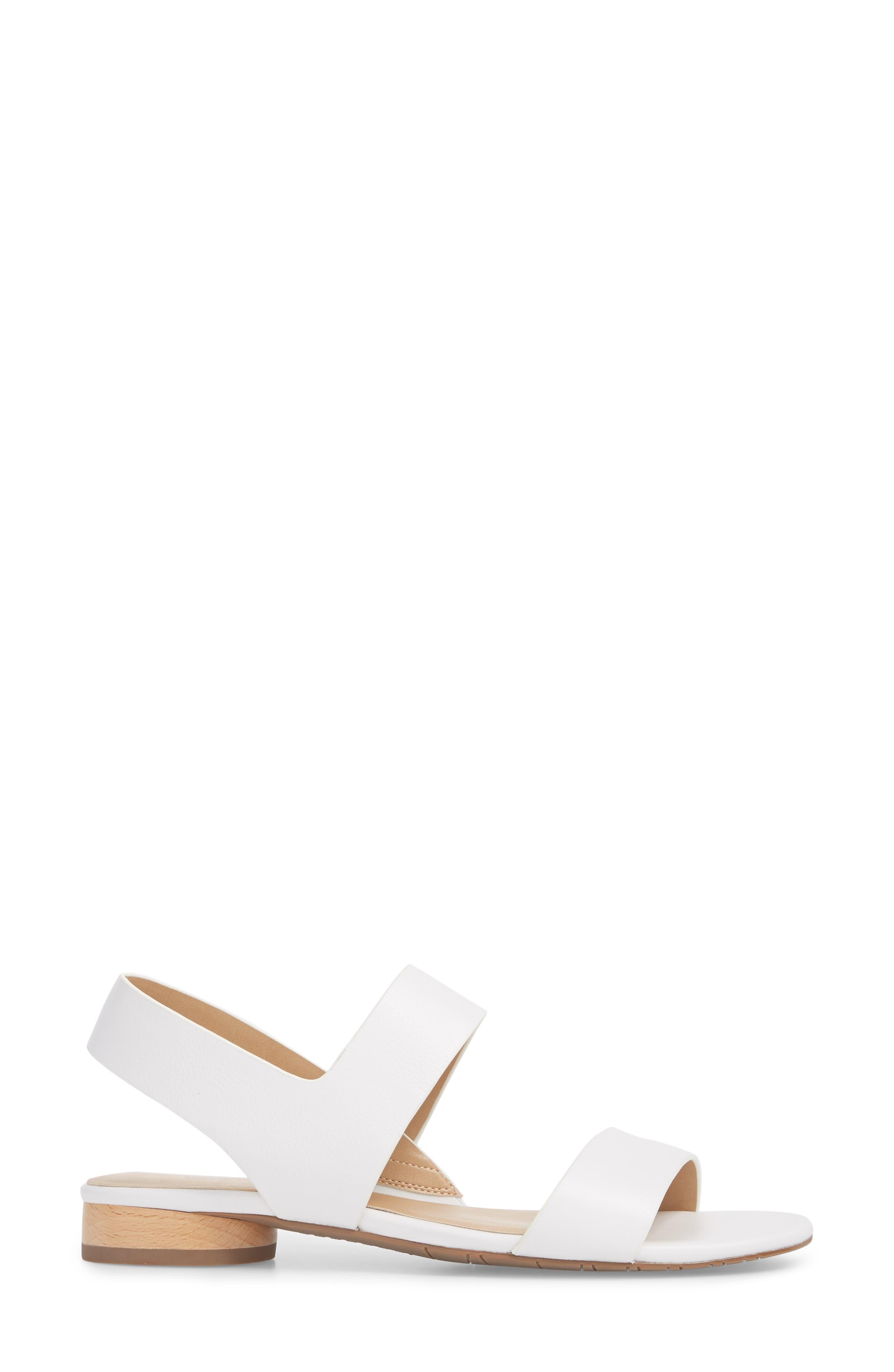 Blanka Sandal,                             Alternate thumbnail 3, color,                             White Leather