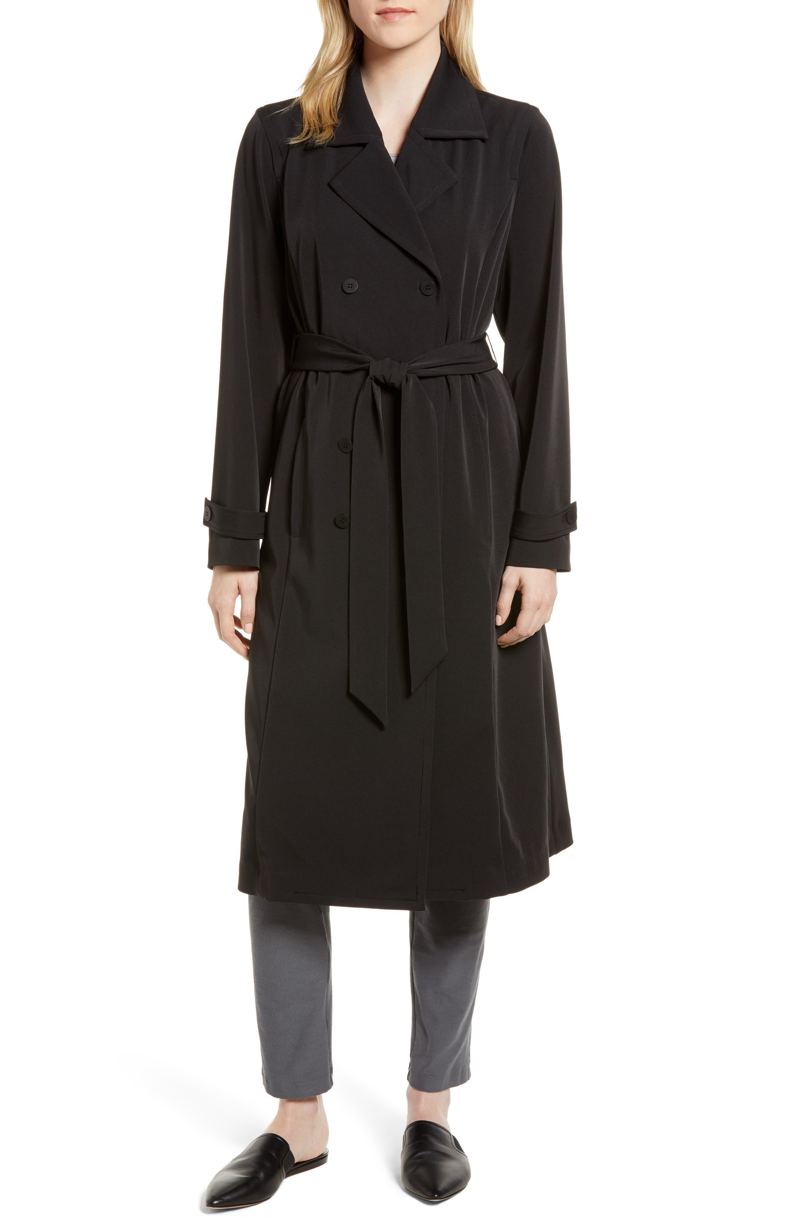 Trench Coat,                             Main thumbnail 1, color,                             Black