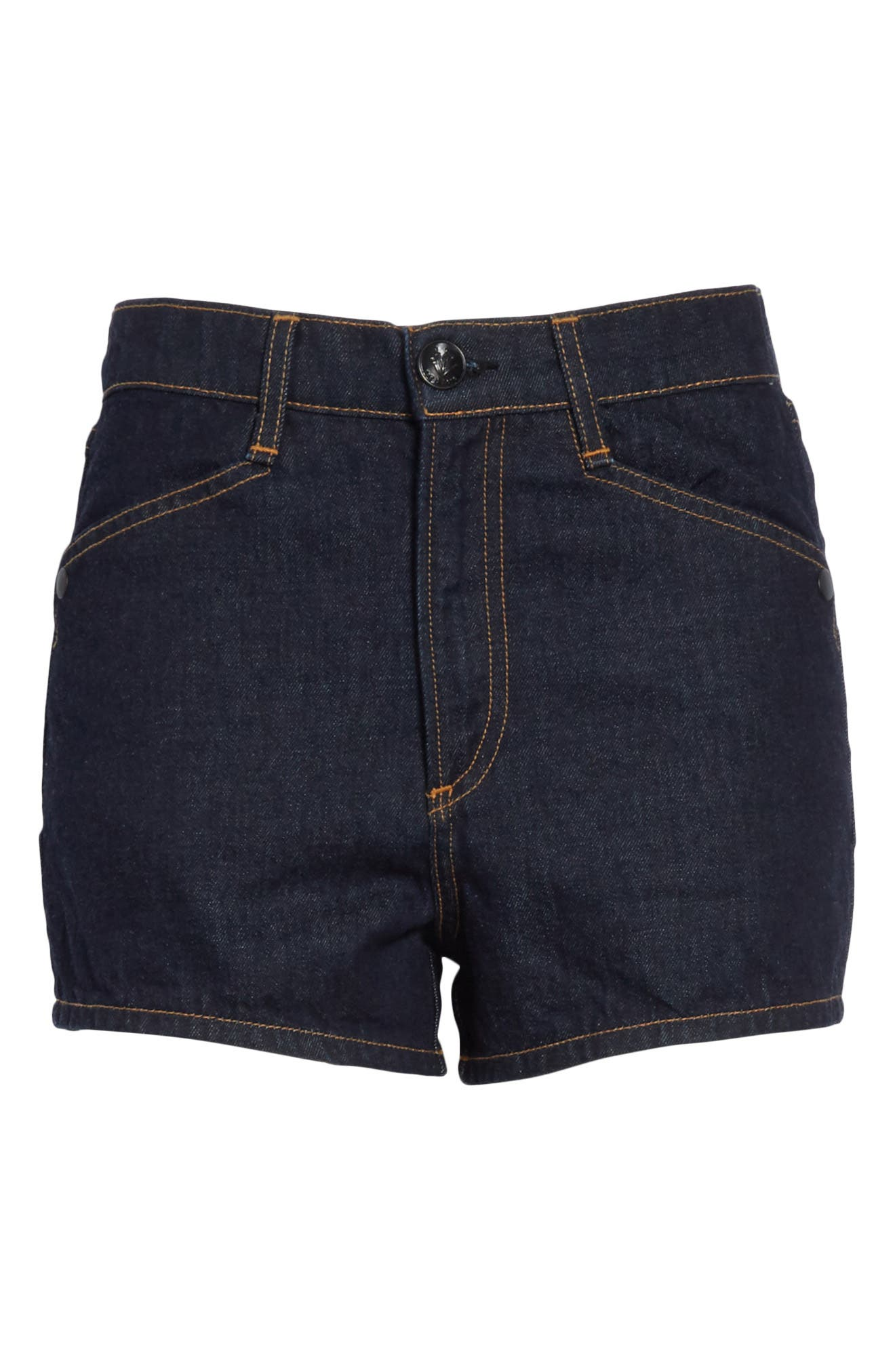 Ellie Denim Shorts,                             Alternate thumbnail 6, color,                             Indigo