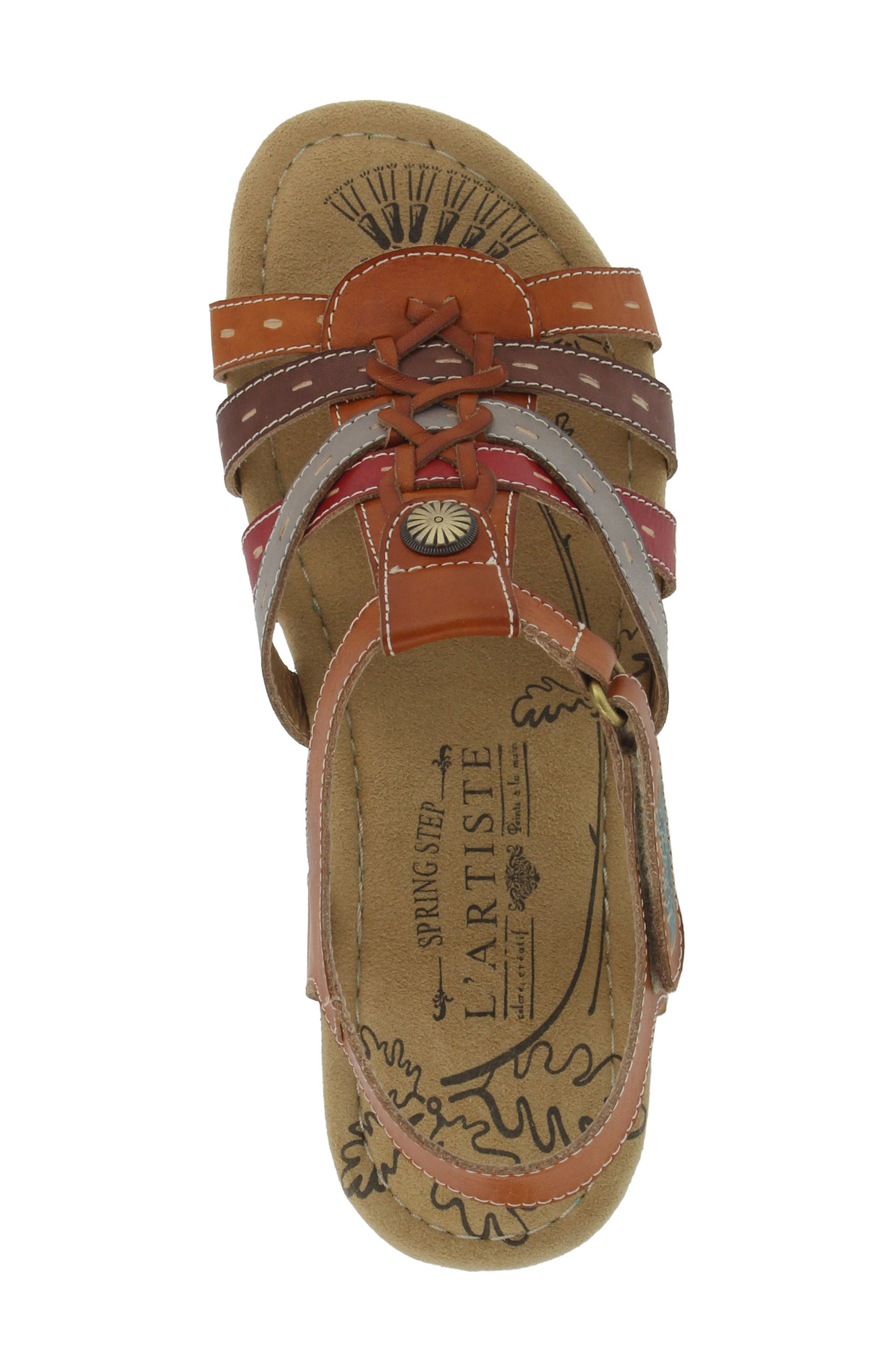 L'Artiste Cloe Sandal,                             Alternate thumbnail 4, color,                             Camel Leather