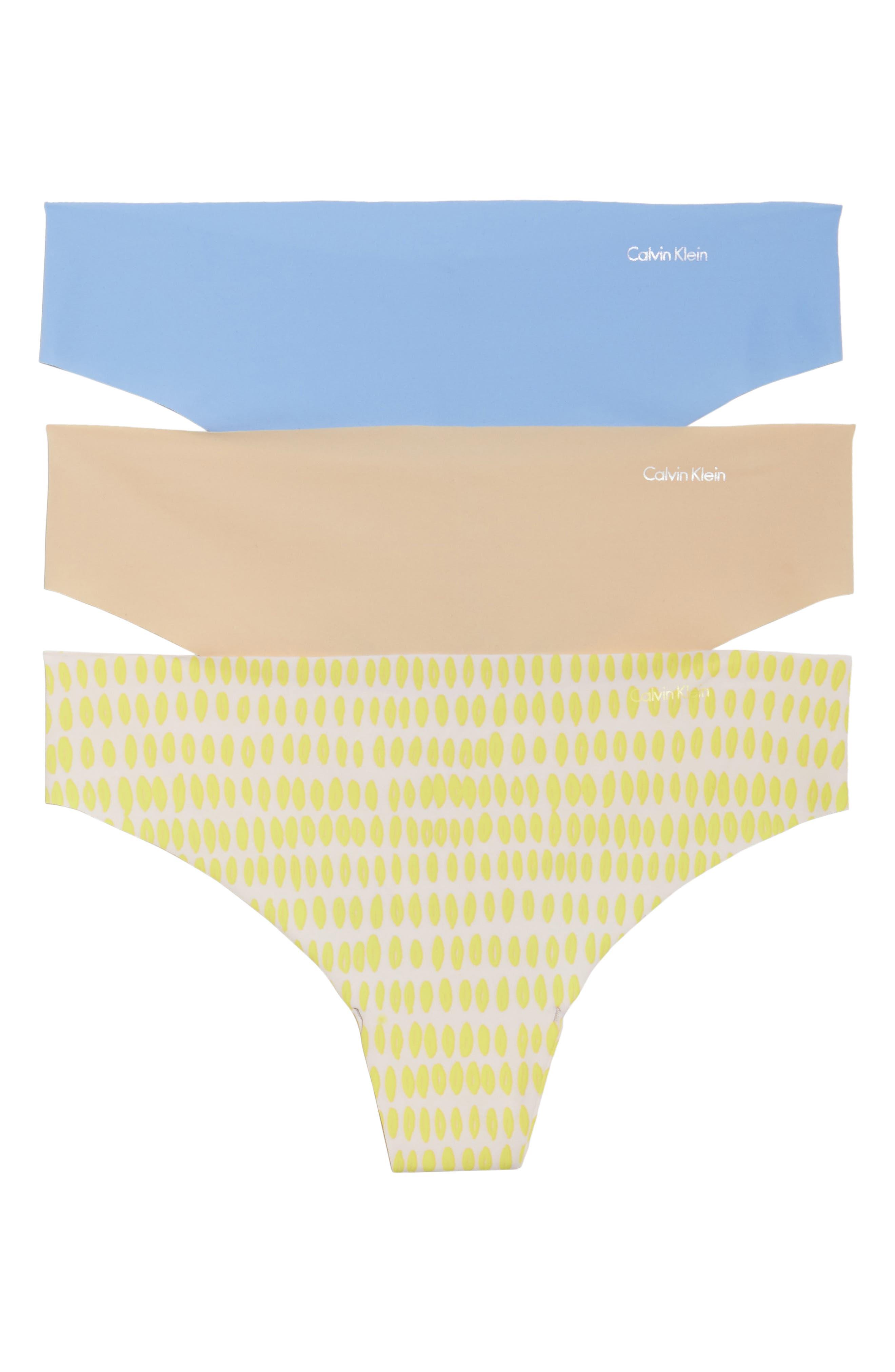 Main Image - Calvin Klein 'Invisibles' Thong (3-Pack)