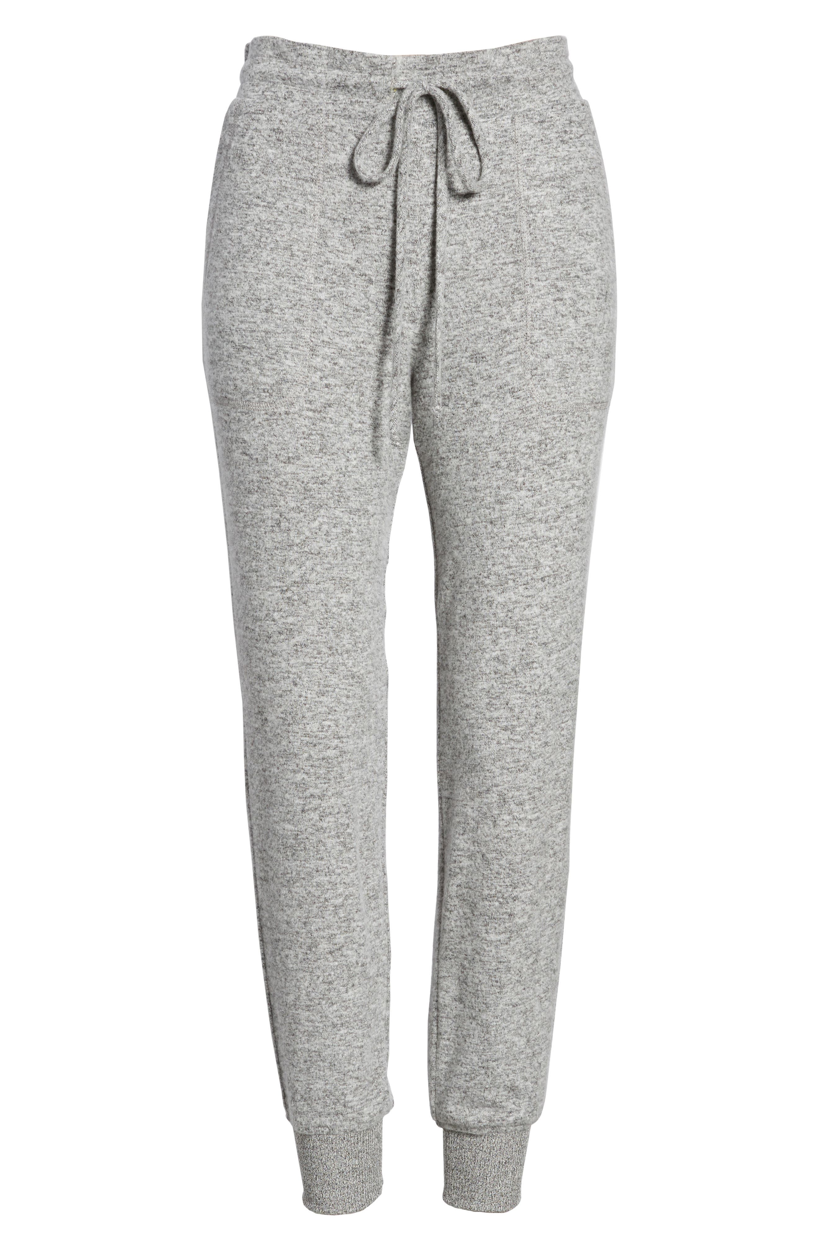 x Living in Yellow Skye Cozy Jogger Pants,                             Alternate thumbnail 8, color,                             Heather Grey